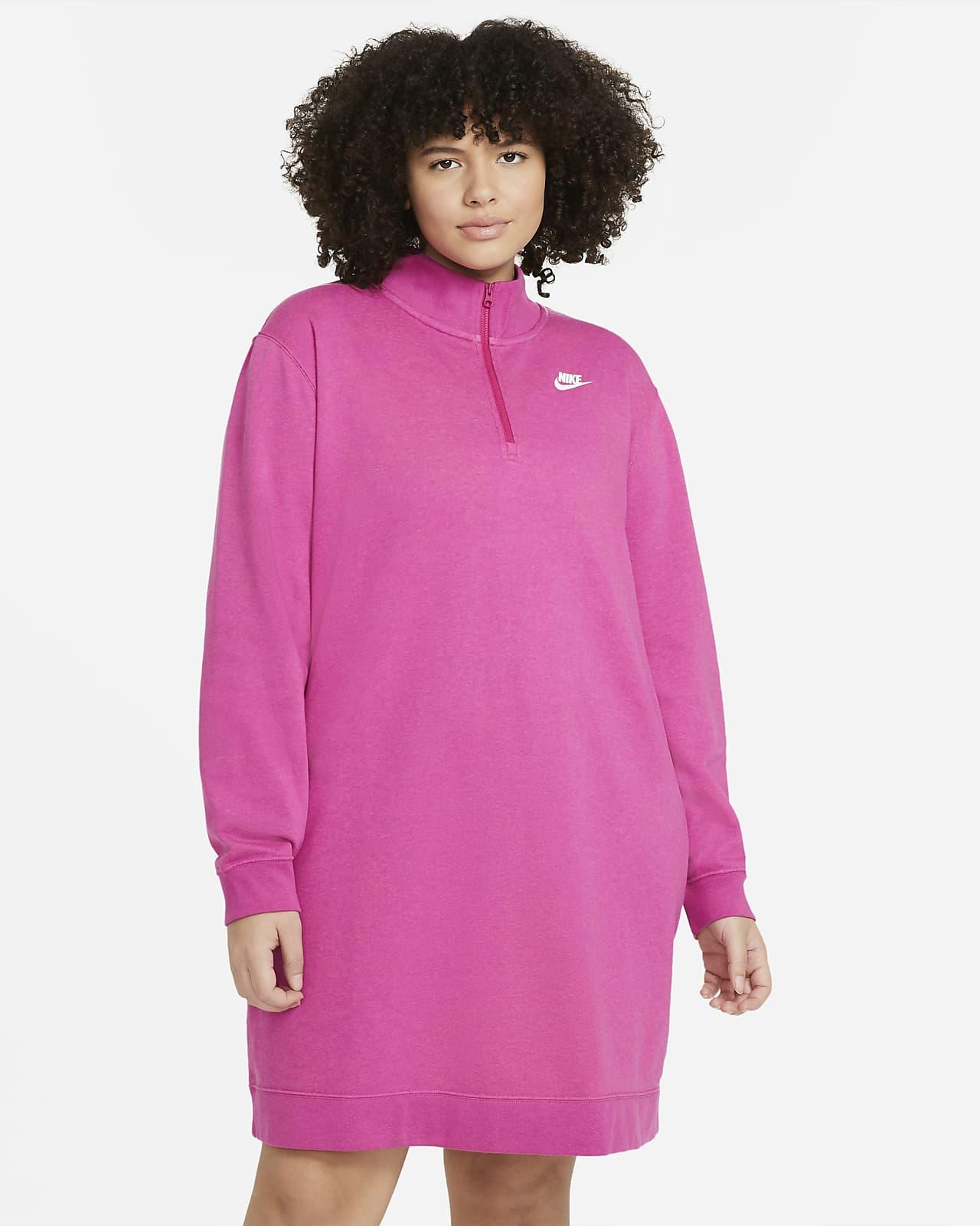 Vestido de tejido fleece para mujer (talla grande) Nike Sportswear Club