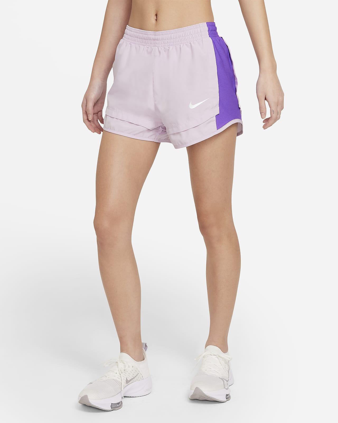 กางเกงวิ่งขาสั้นผู้หญิง Nike Tempo Icon Clash