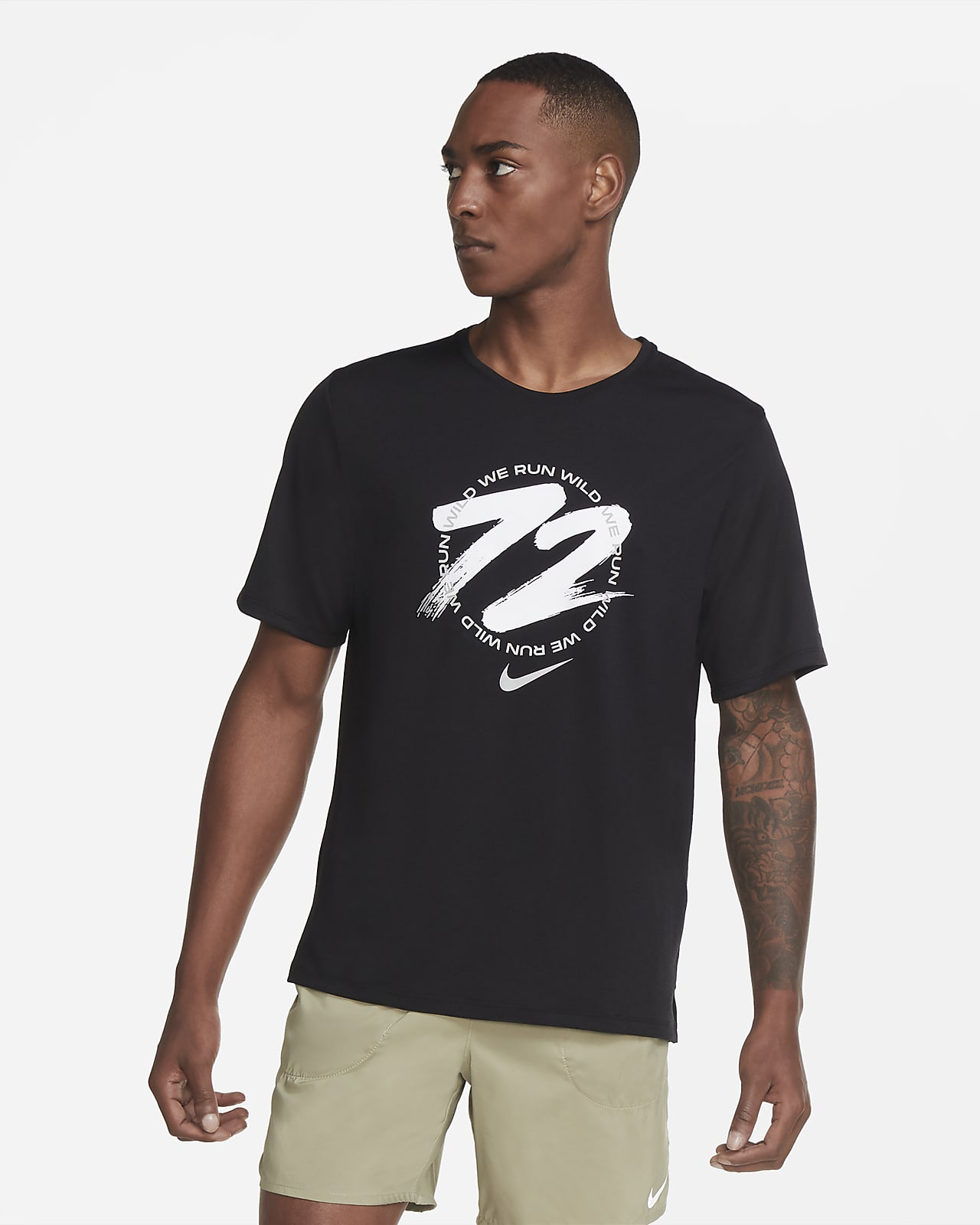 Camiseta de running para hombre Nike Dri-FIT Miler Wild