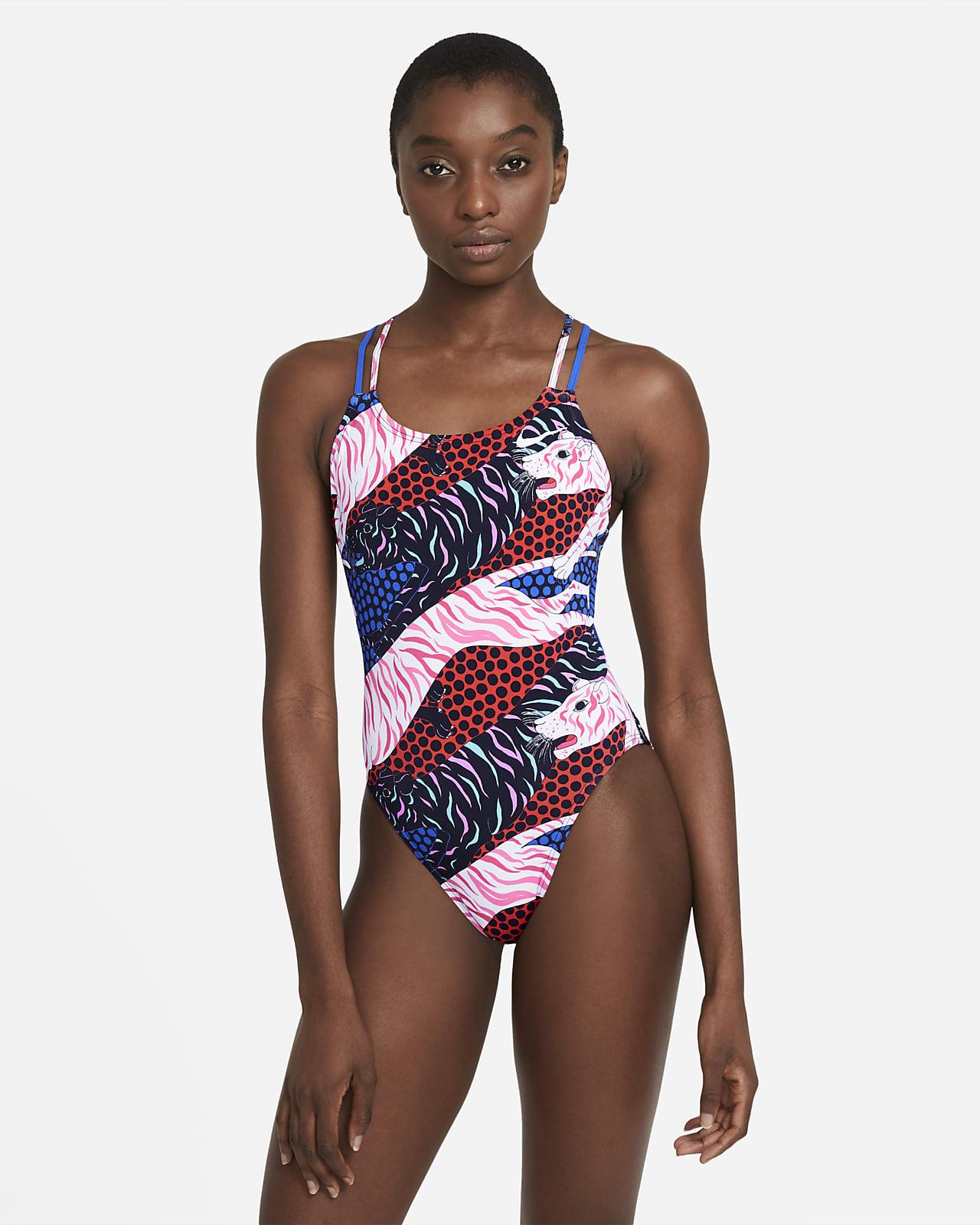Nike HydraStrong einteiliger Damen-Badeanzug mit Spiderback-Design