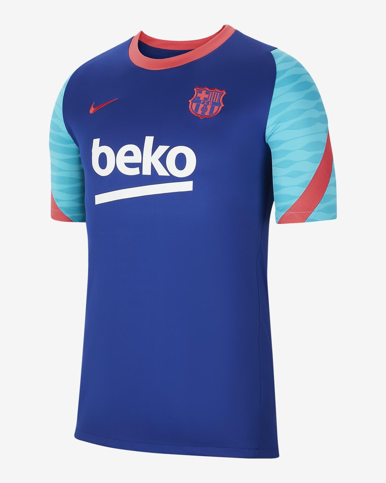 Kortärmad fotbollströja FC Barcelona Strike för män