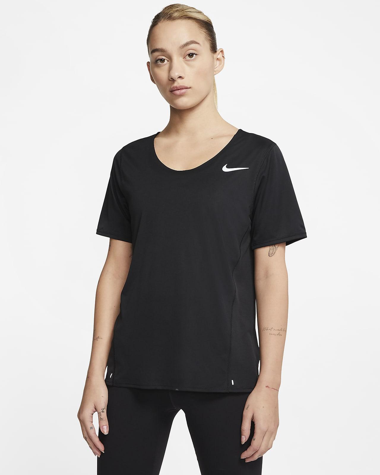 เสื้อวิ่งแขนสั้นผู้หญิง Nike City Sleek