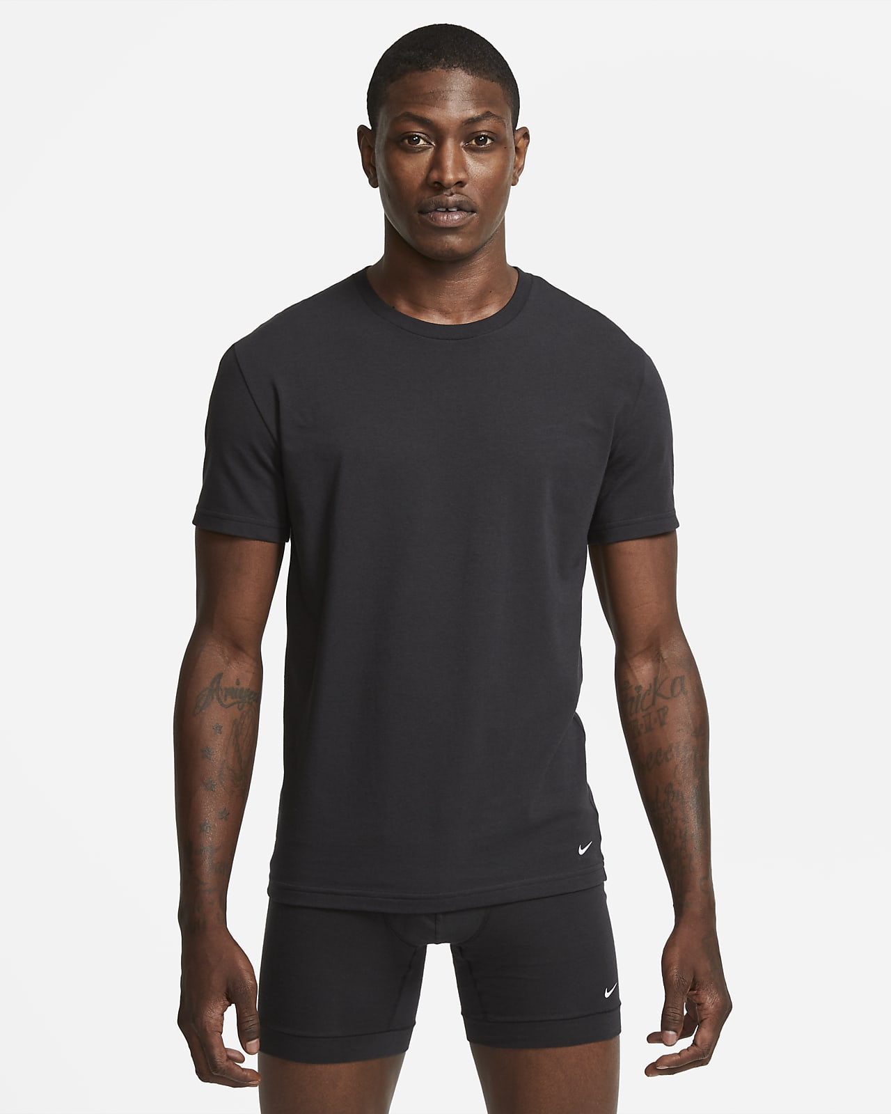 Nike Everyday Cotton Stretch Men's Slim Fit Crew-Neck Undershirt (2-Pack)