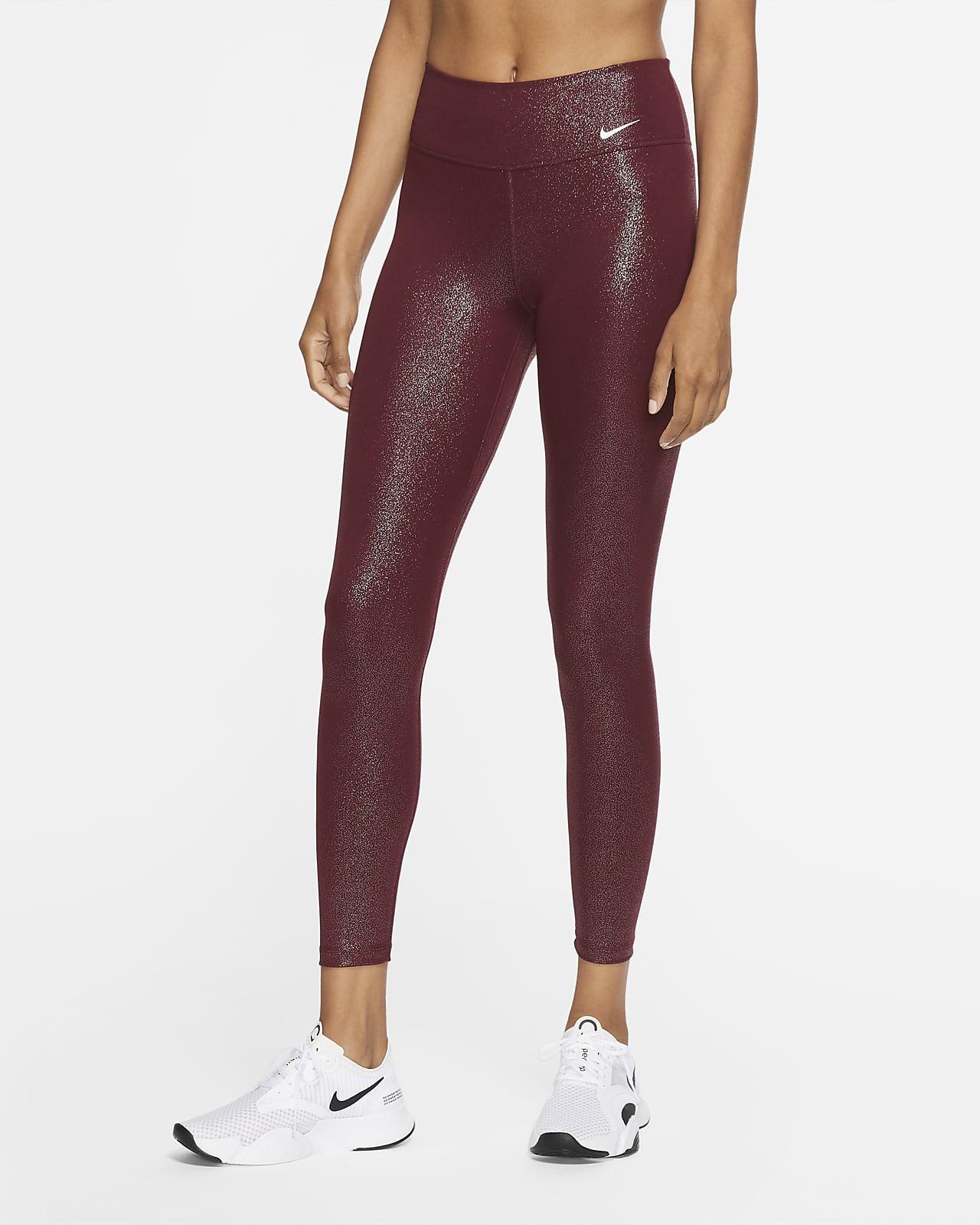 Женские слегка укороченные тайтсы с блестящим покрытием Nike Pro