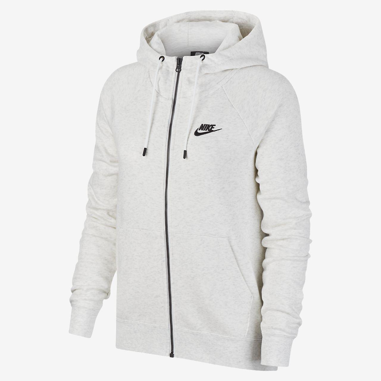 Nike W Full Zip Fleece Hoodie | Grå | Zip hoodies | CK1505