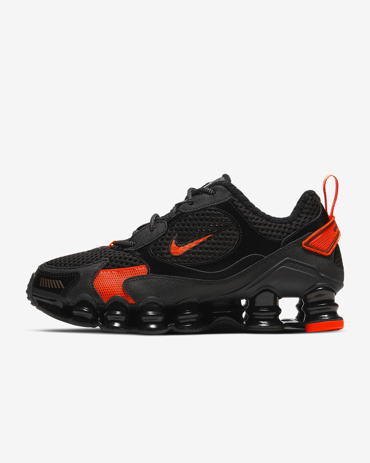 Nike Shox TL Nova white and orange sneakers