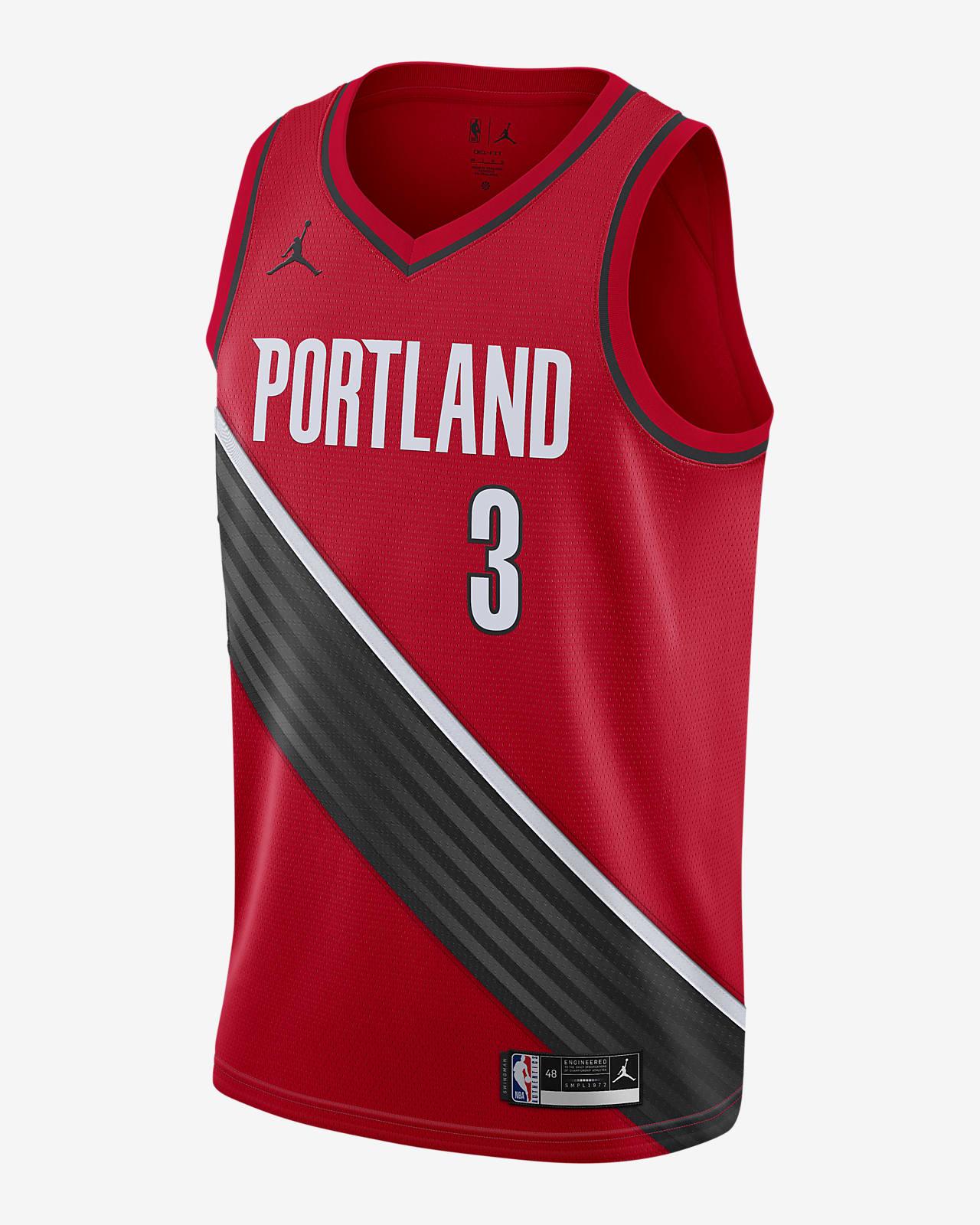 2020 赛季波特兰开拓者队 (C.J.McCollum) Statement Edition Jordan NBA Swingman Jersey 男子球衣