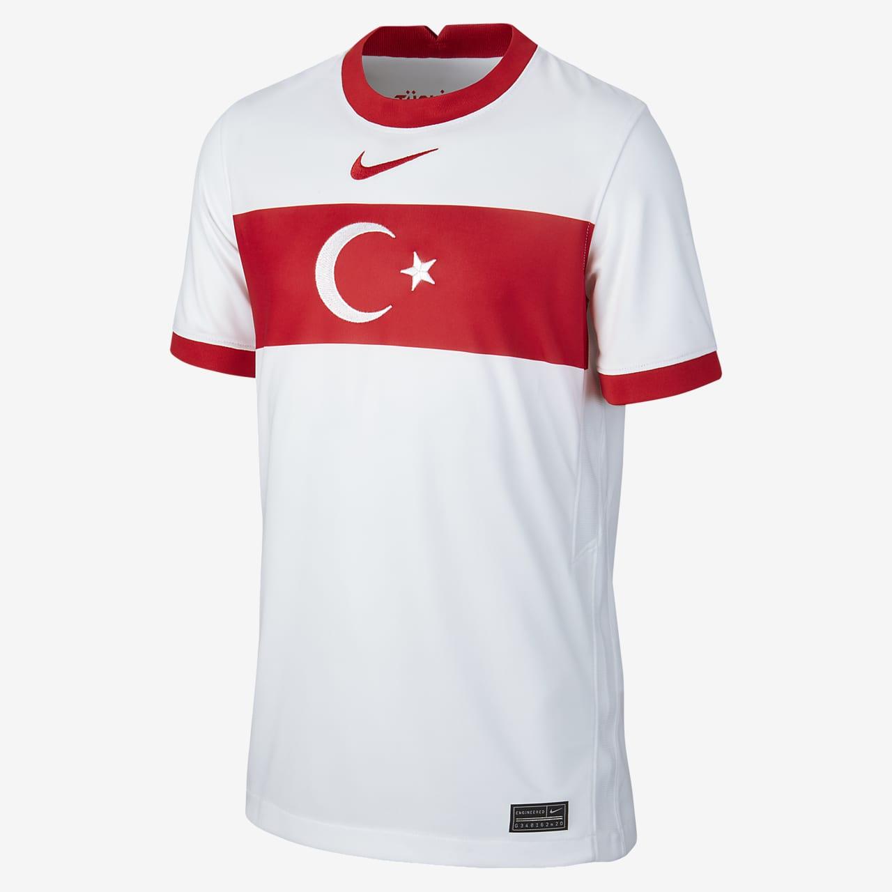 Tyrkiet 2020 Stadium Home-fodboldtrøje til store børn