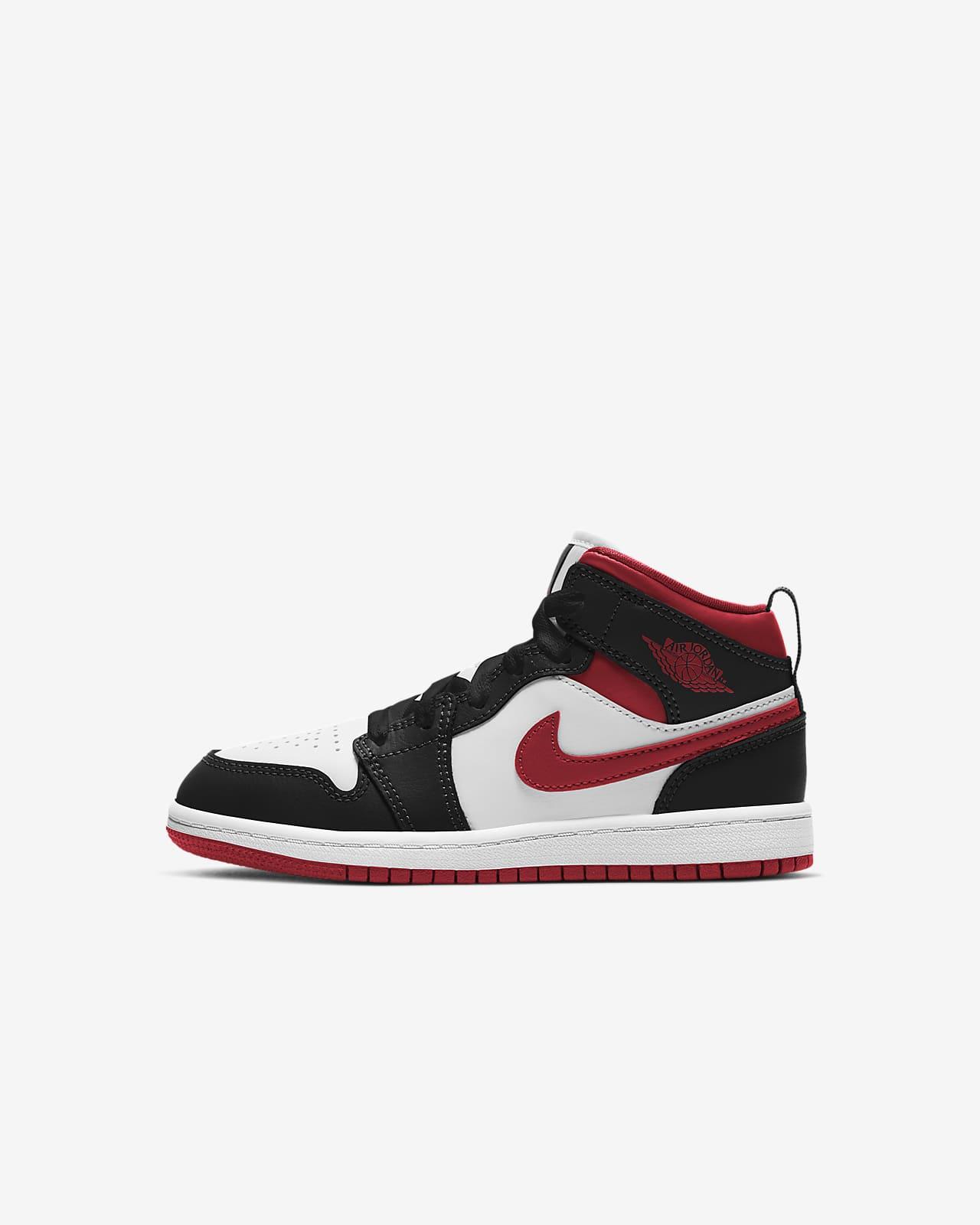 Jordan 1 Mid Schuh für jüngere Kinder