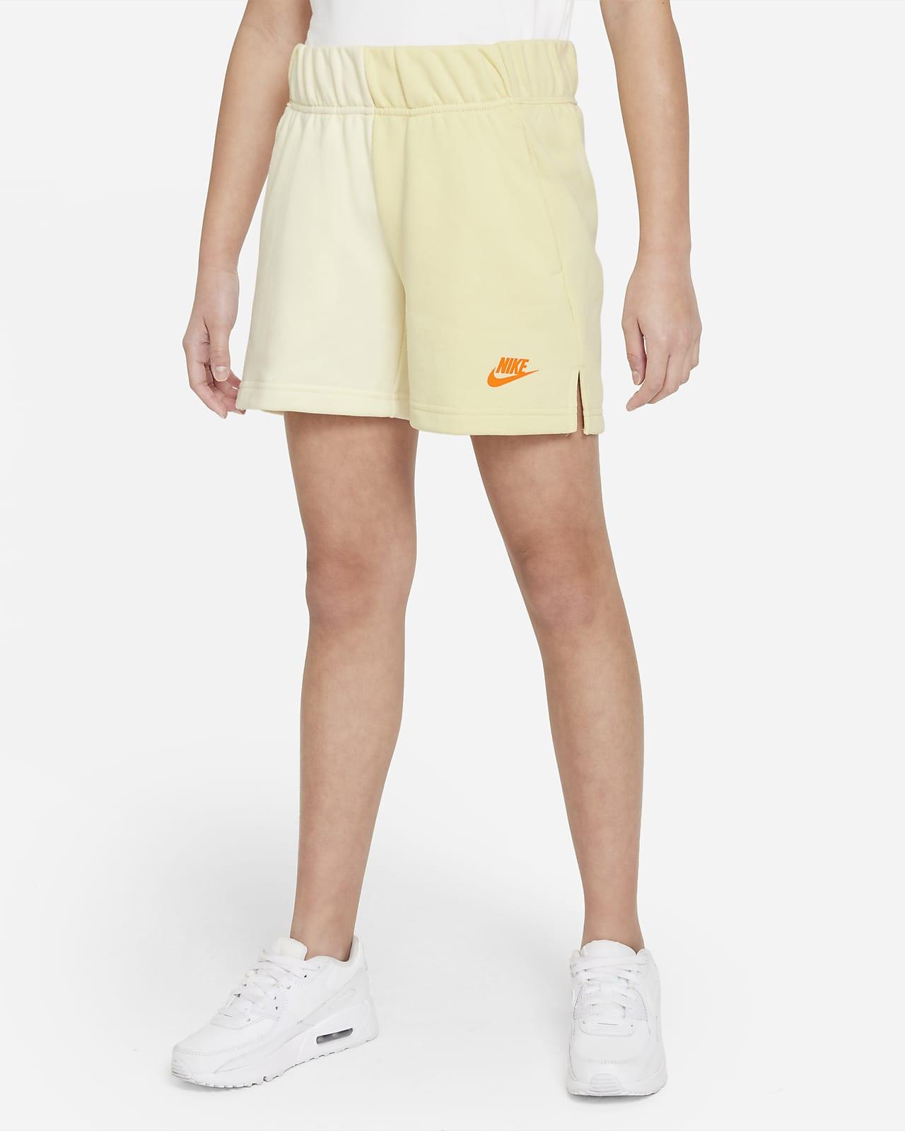 Shorts de French Terry para niña talla grande Nike Sportswear