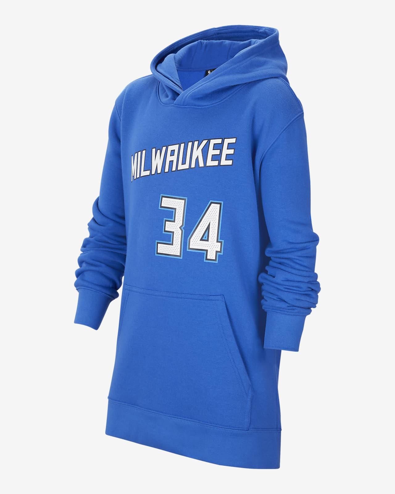 Giannis Antetokounmpo Bucks City Edition Older Kids' Nike NBA Pullover Hoodie