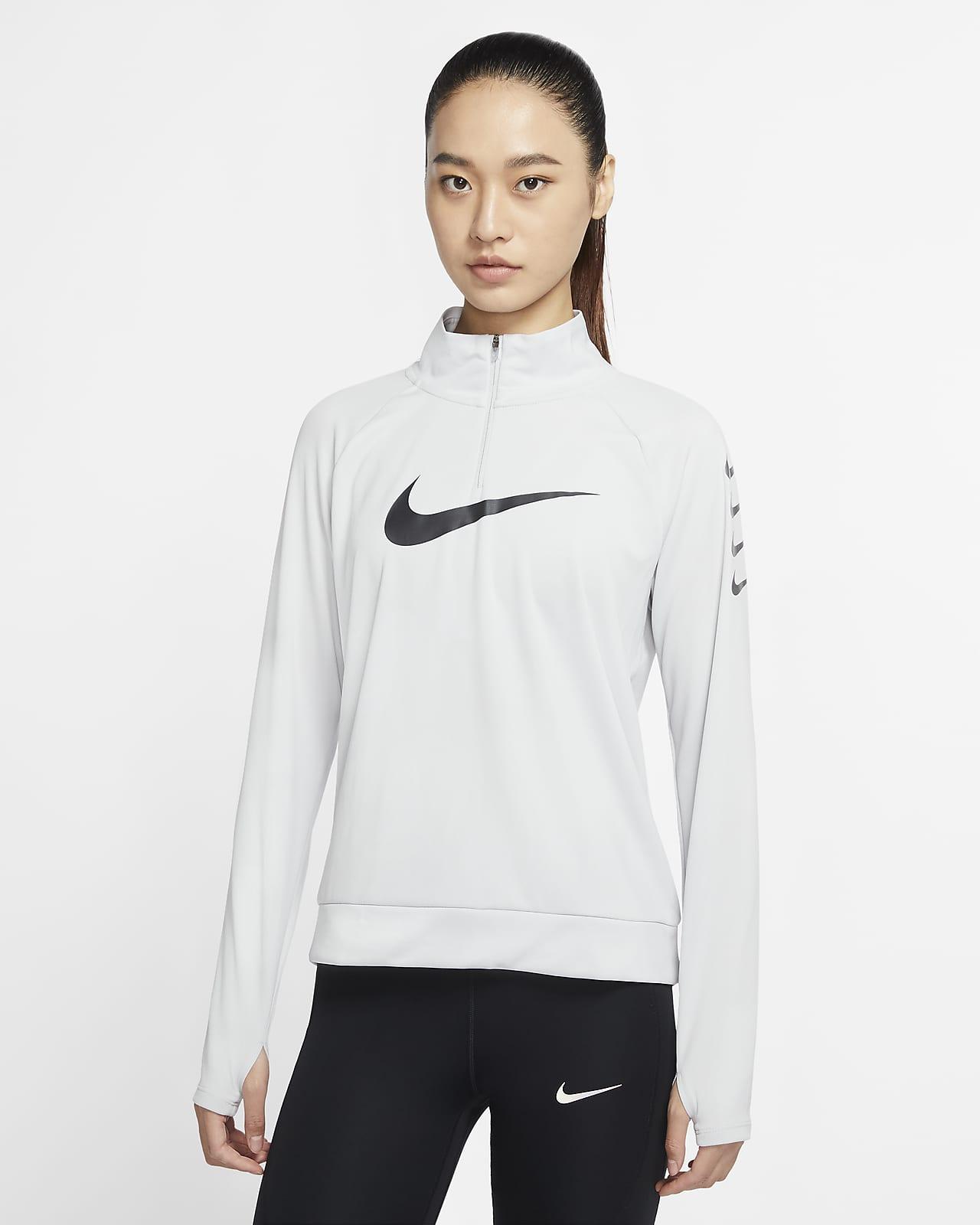 Nike Swoosh Run 女子 1/4 拉链开襟跑步上衣