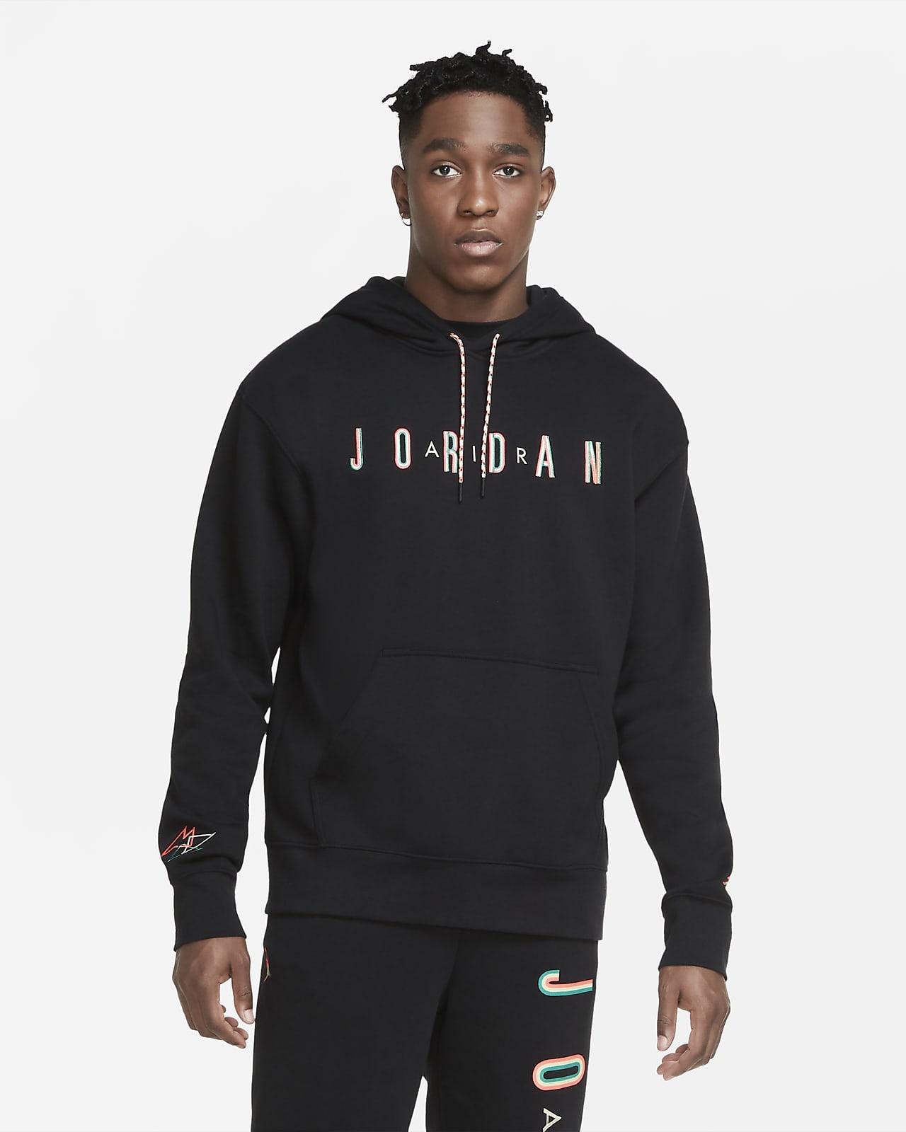 เสื้อมีฮู้ดผ้าฟลีซผู้ชายแบบสวม Jordan Sport DNA