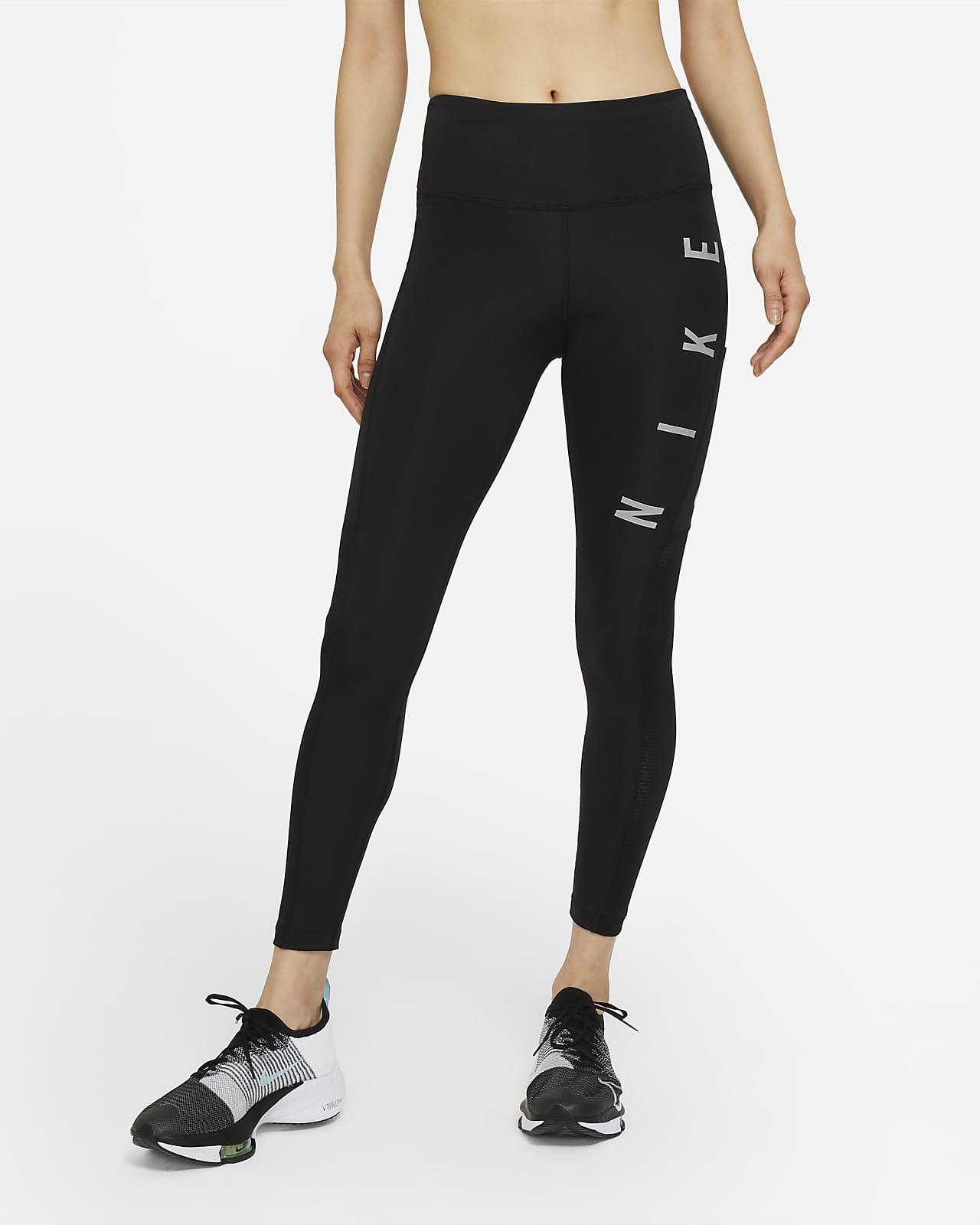เลกกิ้งวิ่งเอวปานกลางผู้หญิง Nike Epic Fast Run Division