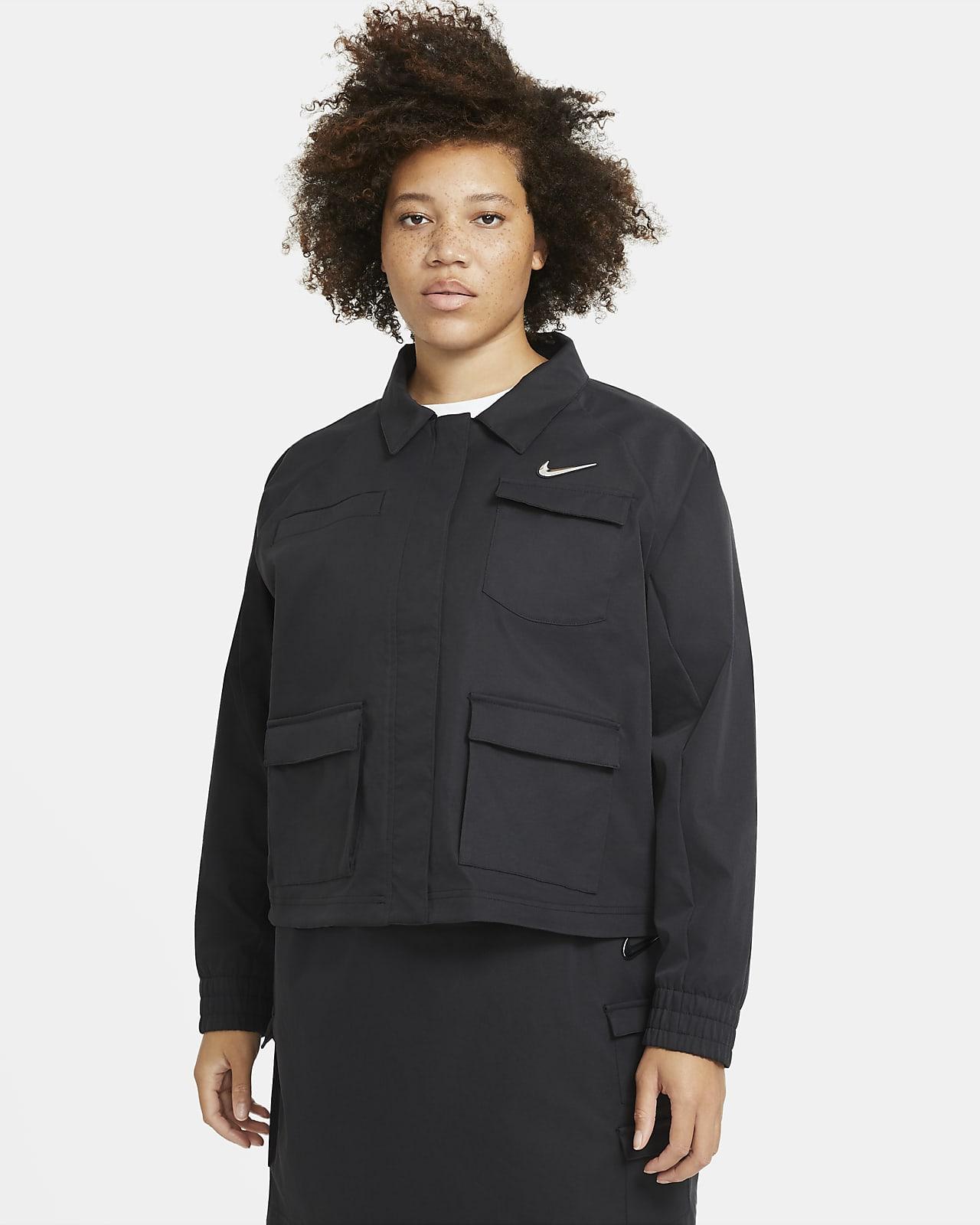 Chamarra Nike Sportswear Swoosh para mujer (talla grande)