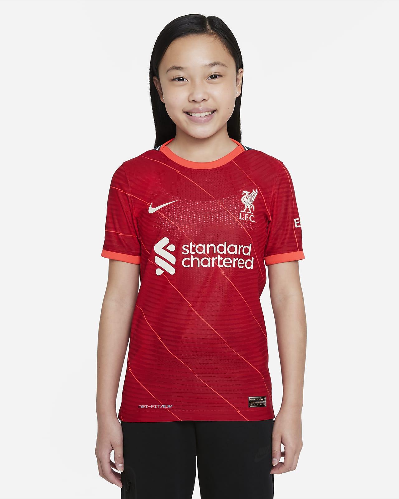 Camisola de futebol Nike Dri-FIT ADV do equipamento principal Match Liverpool FC 2021/22 Júnior