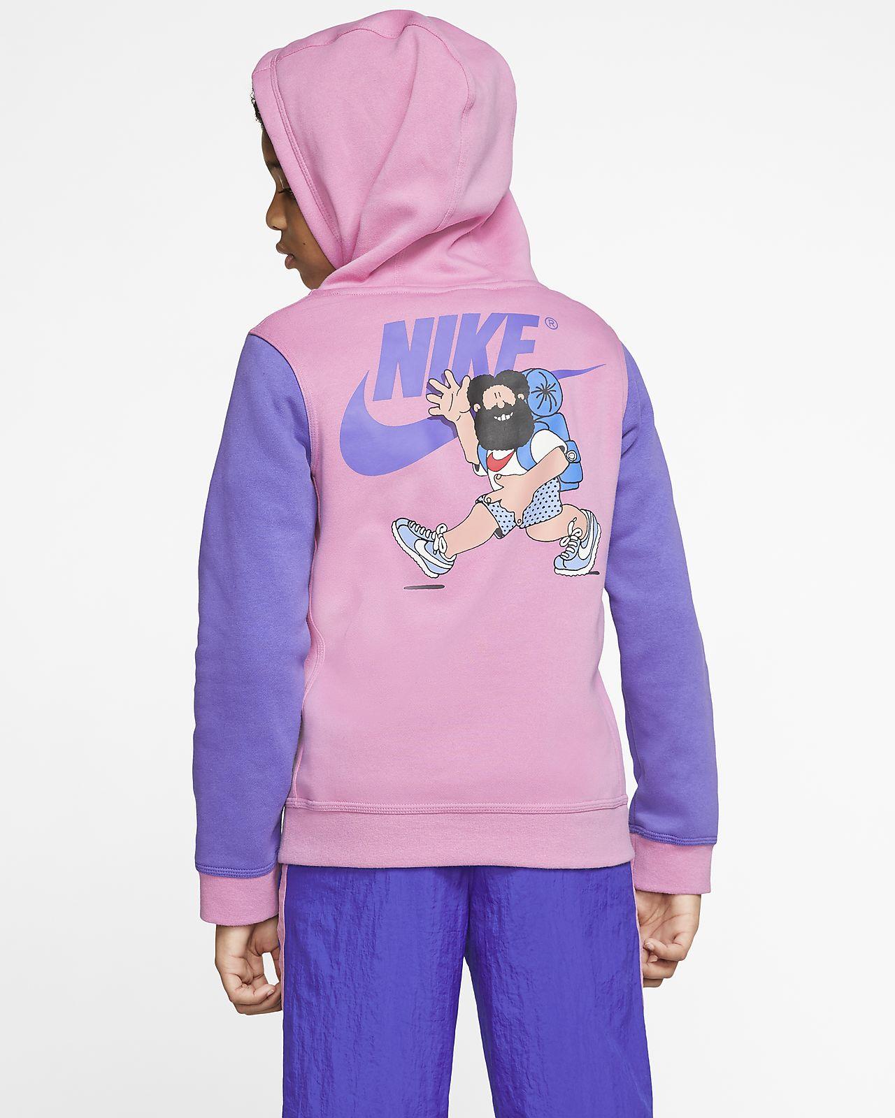 nike hoodie purple