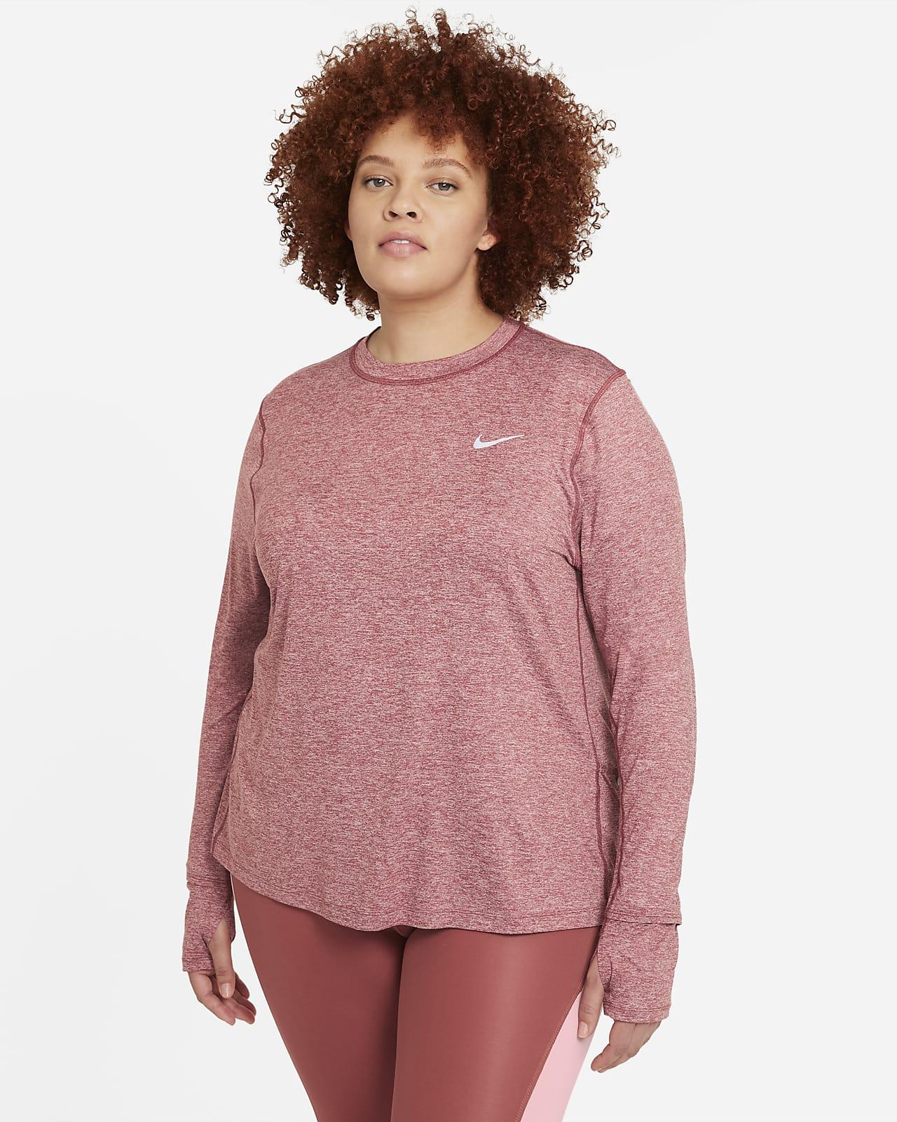 Sudadera de cuello redondo de running para mujer Nike Element (talla grande)