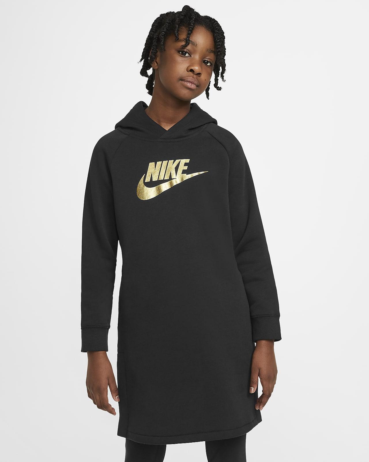 Sukienka z kapturem dla dużych dzieci (dziewcząt) Nike Sportswear