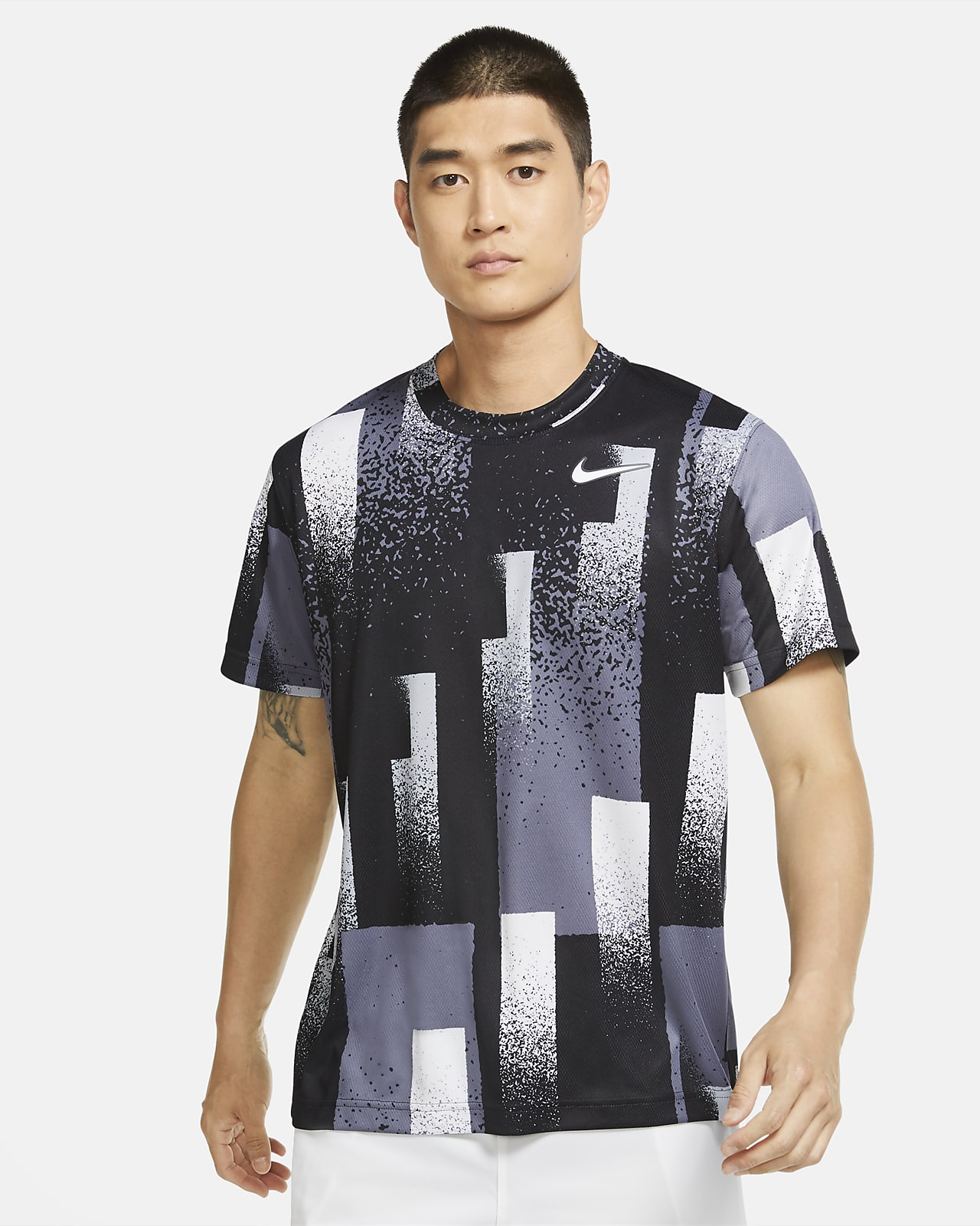 NikeCourt Dri-FIT Men's Printed Tennis Top