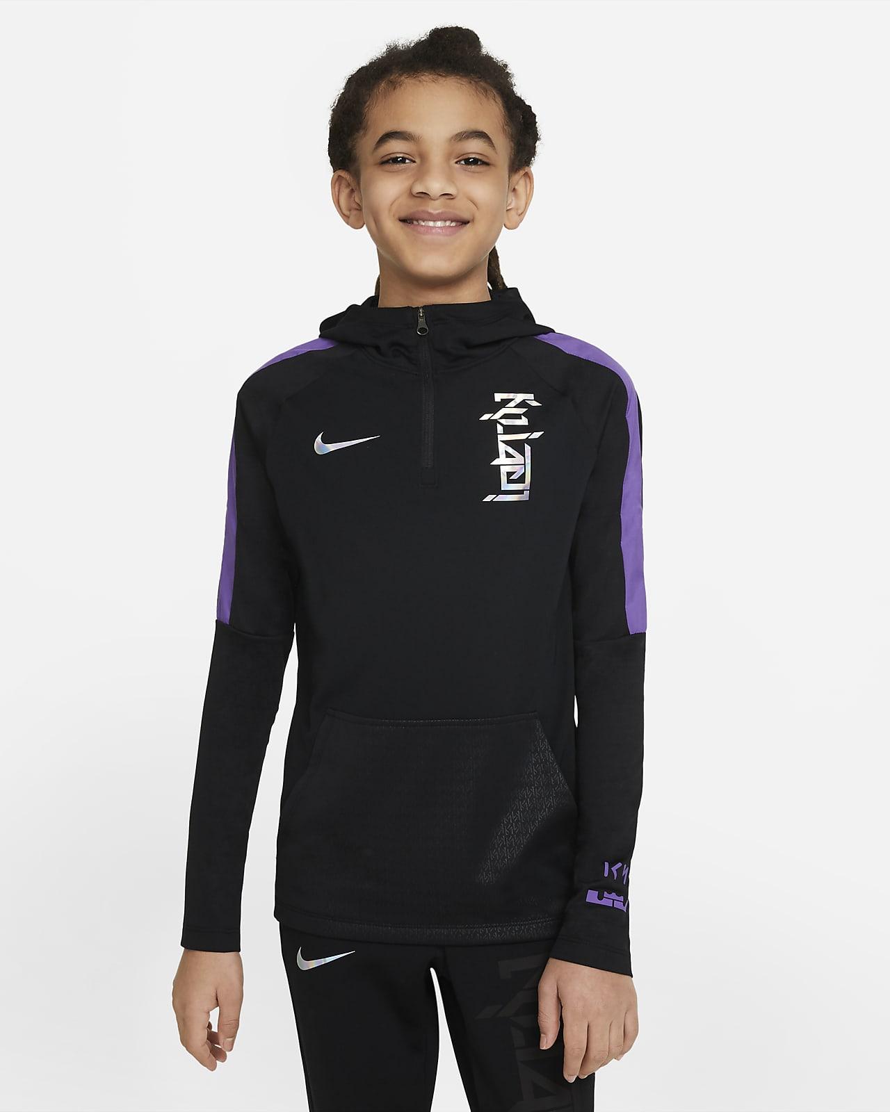 Nike Dri-FIT Kylian Mbappé Big Kids' Soccer Hoodie