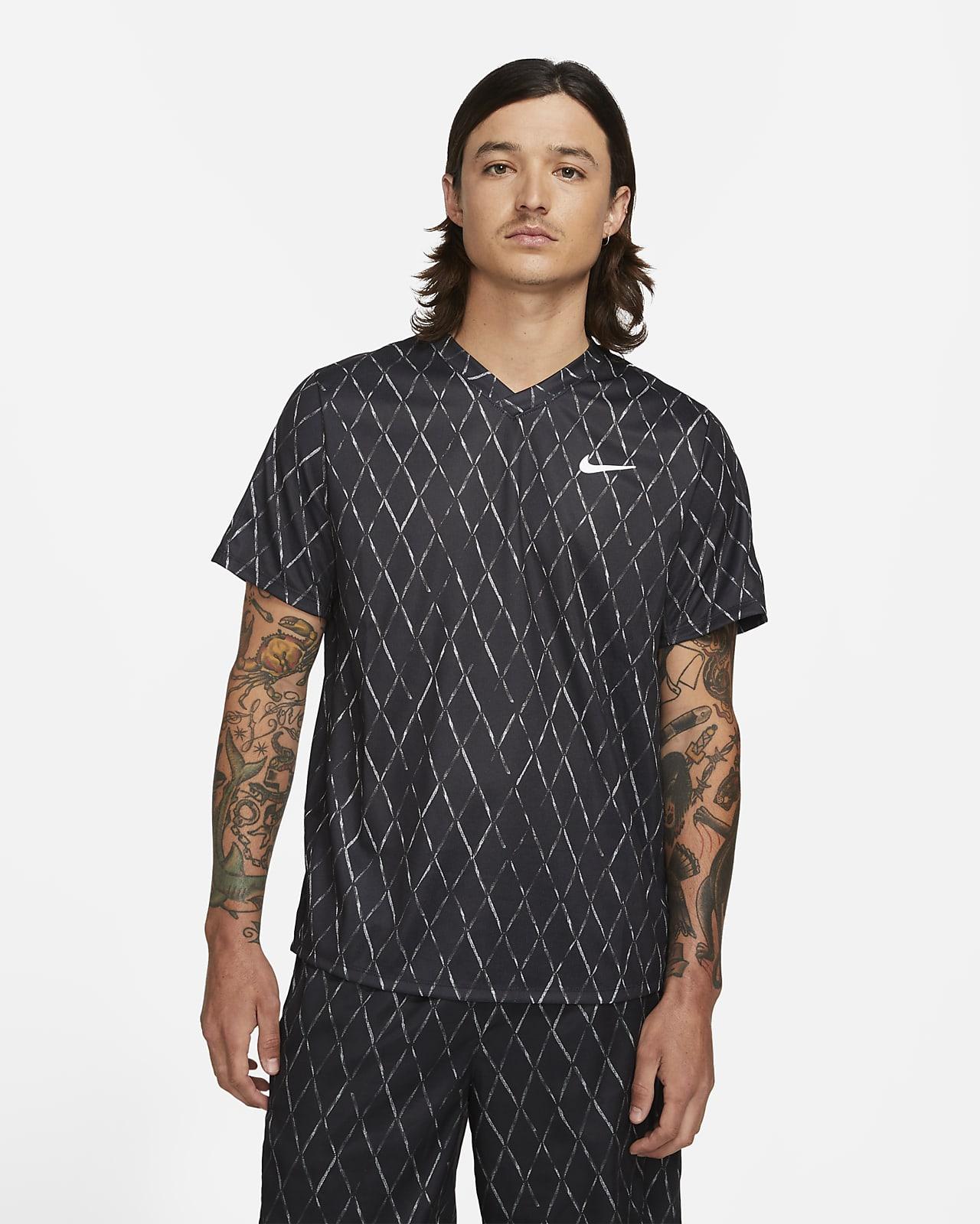 NikeCourt Dri-FIT Victory Men's Printed Tennis Top