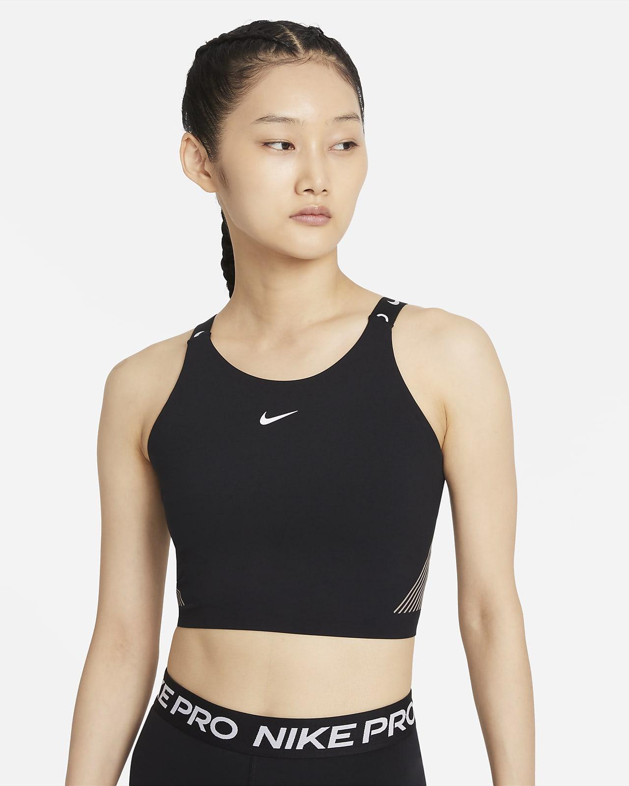 Débardeur court à brassière intégrée Nike Pro Dri-FIT pour Femme