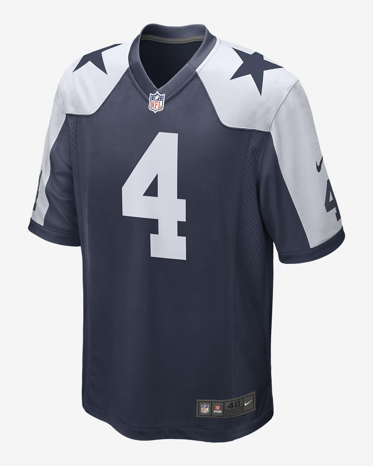 NFL Dallas Cowboys (Dak Prescott) Men's Game Football Jersey