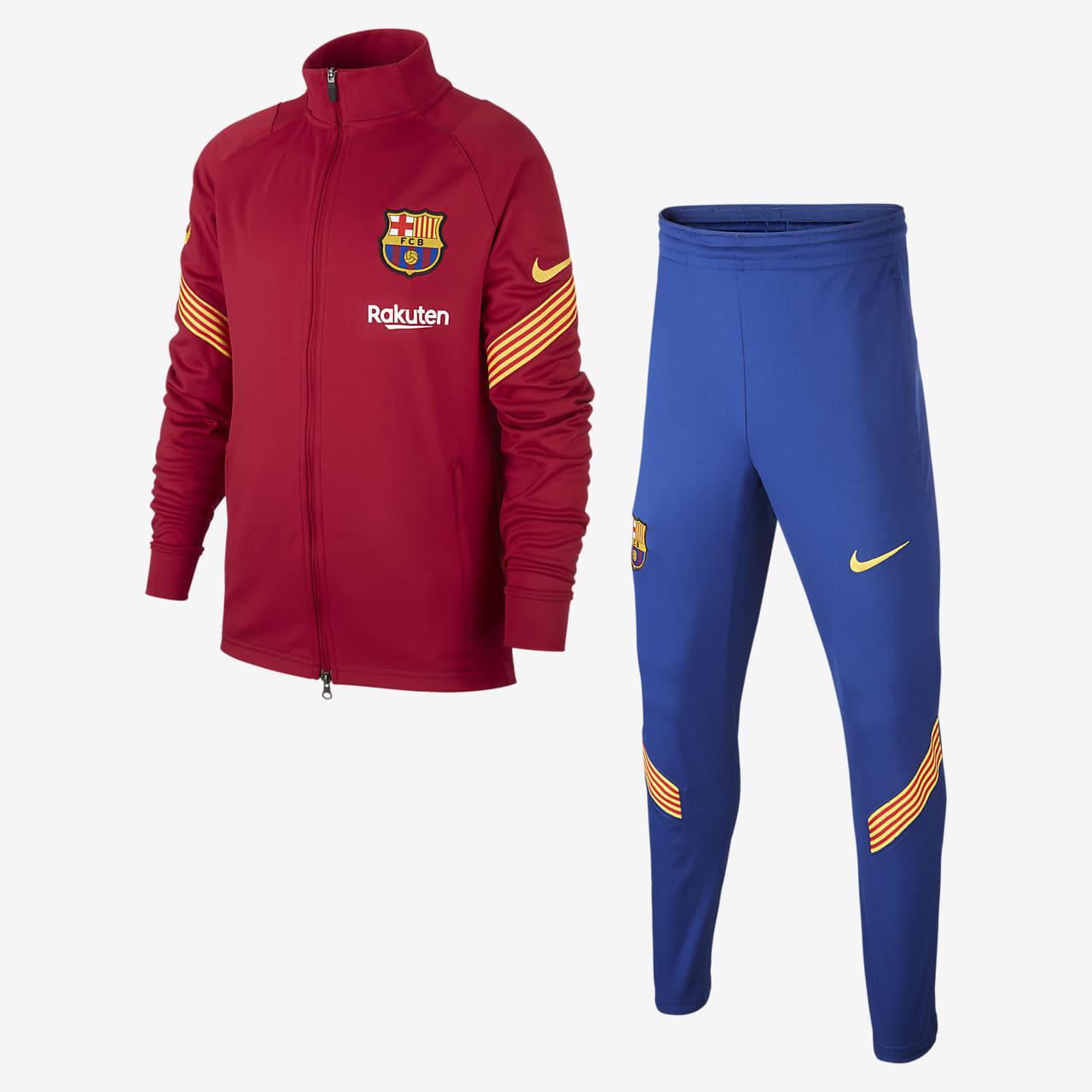 F.C. Barcelona Strike Older Kids' Football Tracksuit