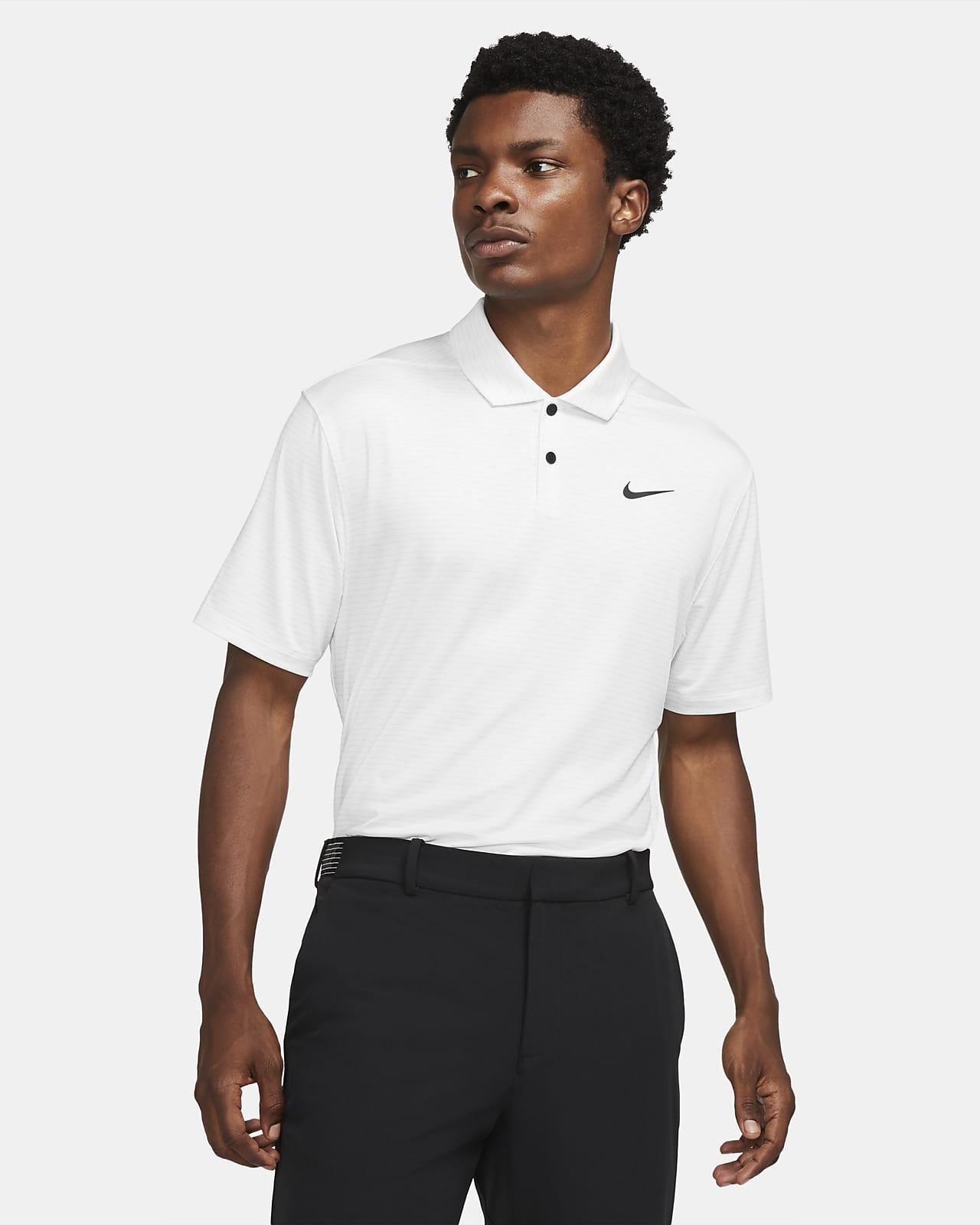 Nike Dri-FIT Vapor gestreiftes Golf-Poloshirt für Herren