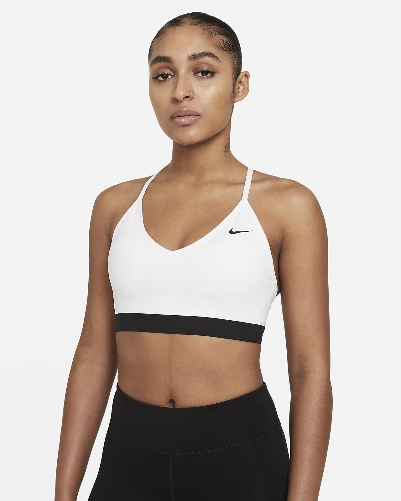 Nike Indy-sports-bh med indlæg og let støtte til kvinder