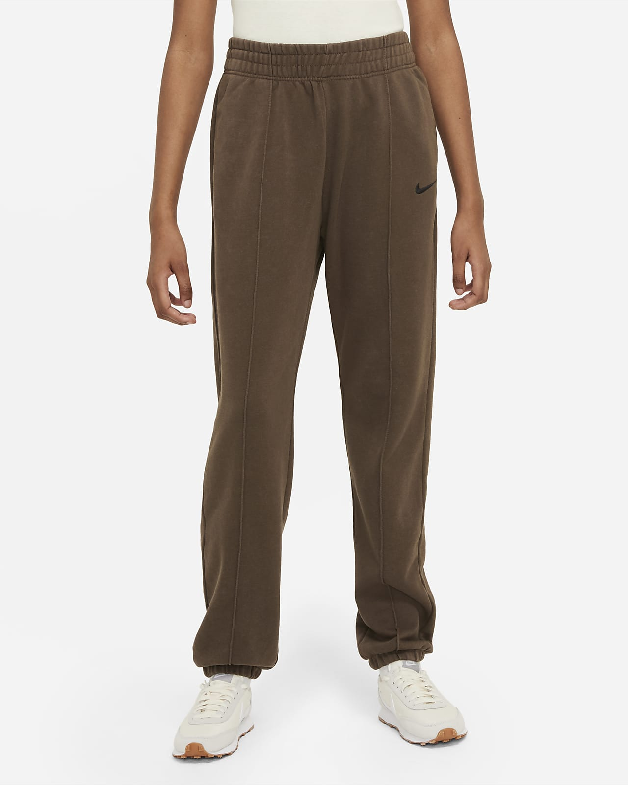 Calças de lã cardada com efeito lavado Nike Sportswear Essential Collection para mulher