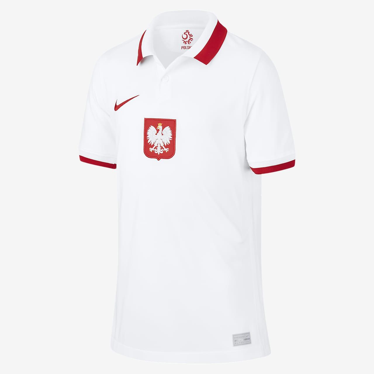 Polen 2020 Stadium Home-fodboldtrøje til store børn