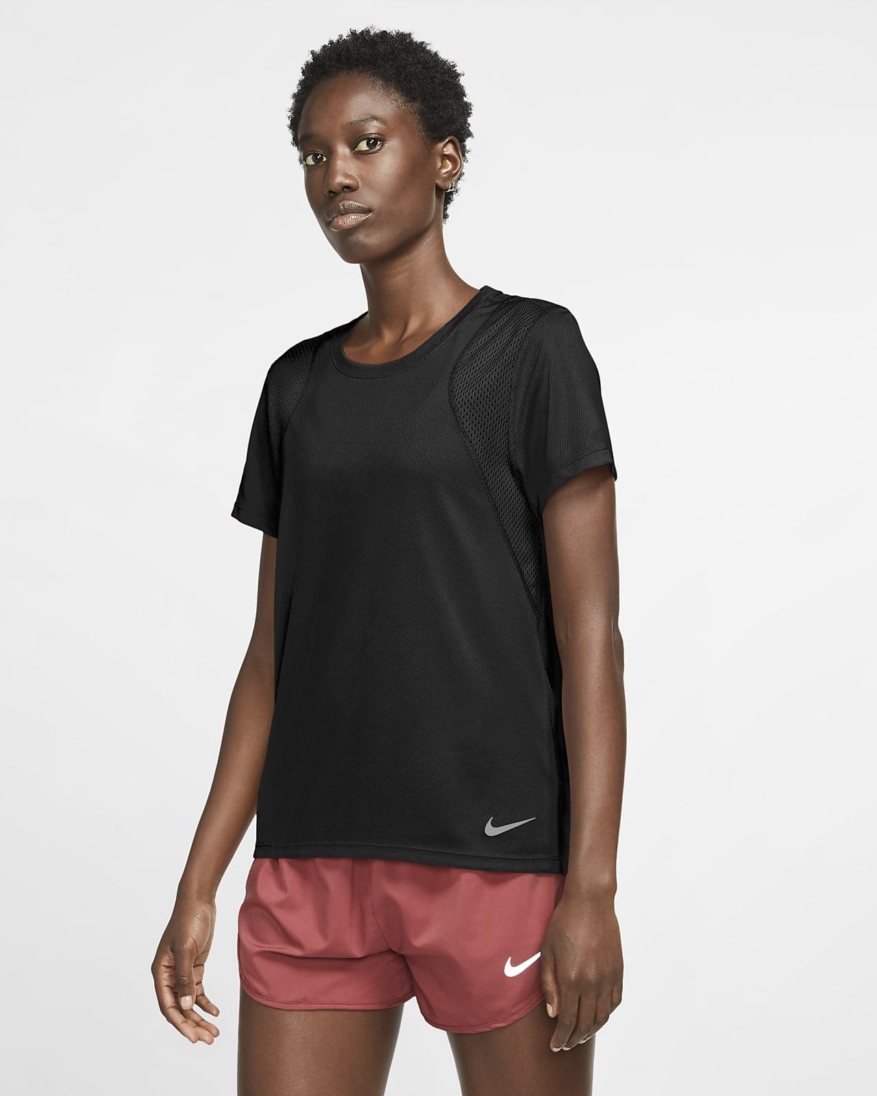 Top da running a manica corta Nike Run - Donna