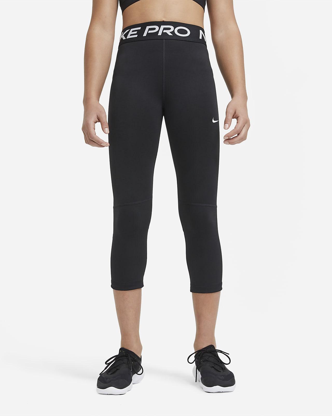Legginsy capri dla dużych dzieci (dziewcząt) Nike Pro