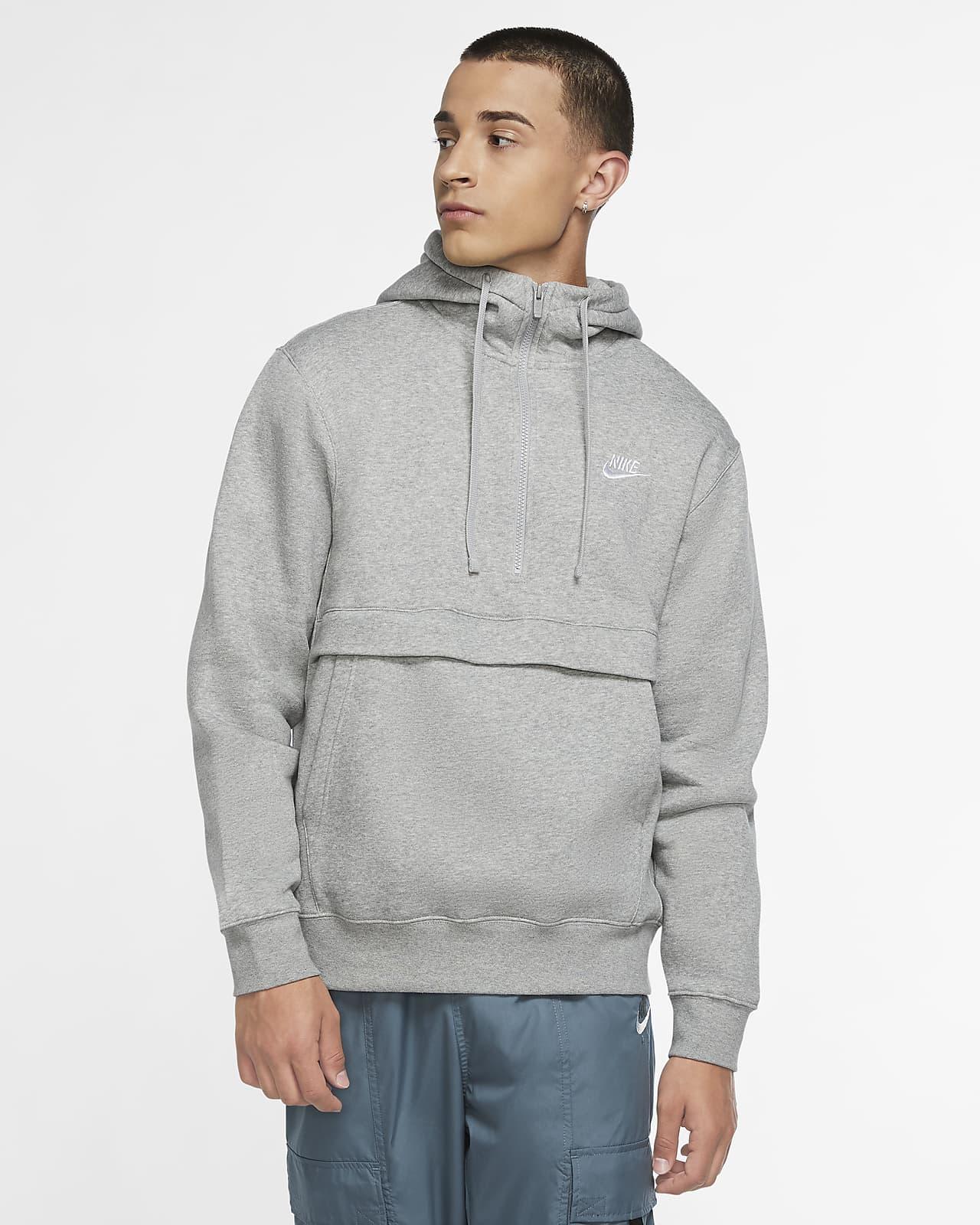 Nike Sportswear Club Fleece Hoodie met halflange rits voor heren