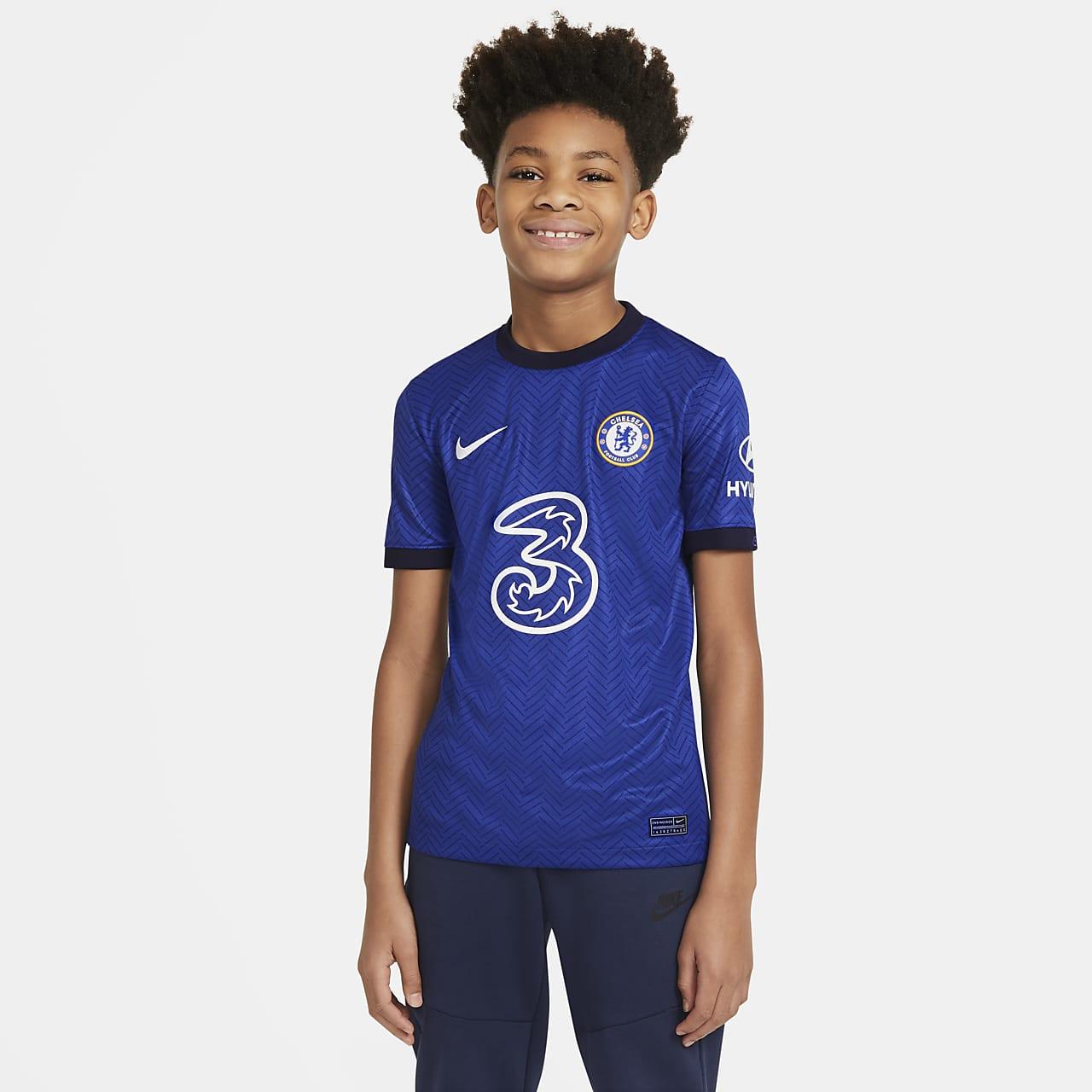 Chelsea F.C. 2020/21 Stadium Home Older Kids' Football Shirt