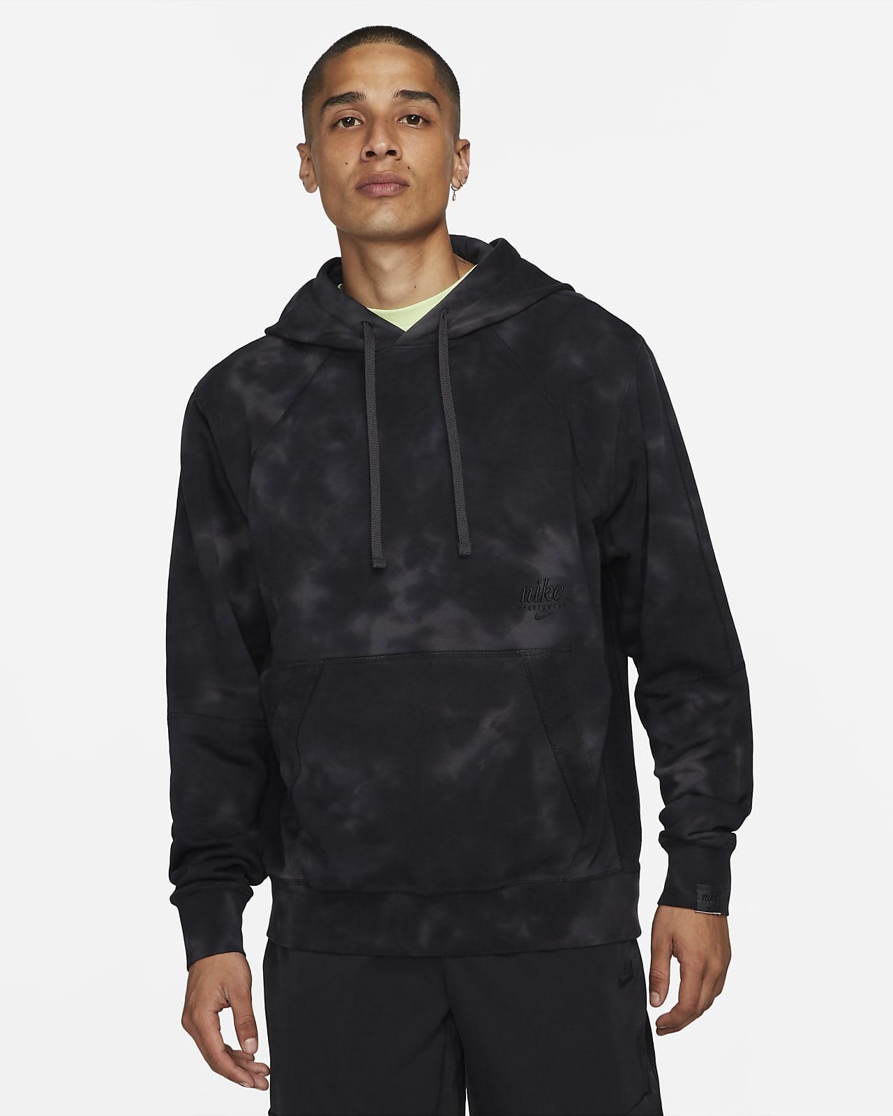 Sudadera con gorro sin cierre de French Terry teñida para hombre Nike Sportswear Club