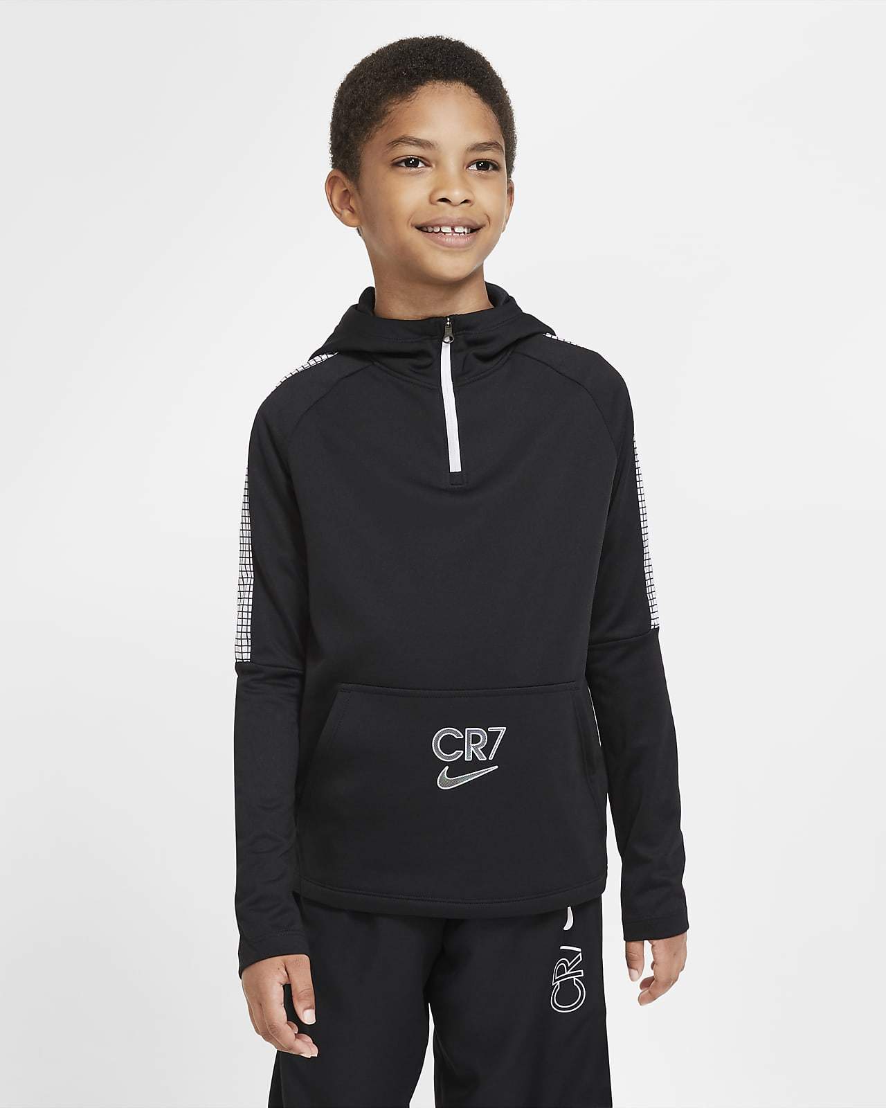 Sweat à capuche de football à 1/4 de zip Nike Dri-FIT CR7 pour Enfant plus âgé