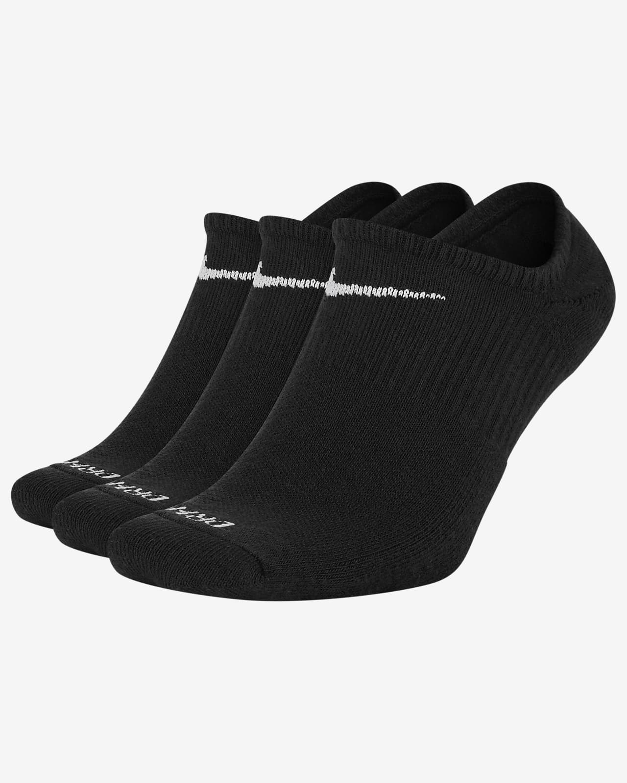 Nike Everyday Plus Cushioned Mitjons invisibles d'entrenament (3 parells)