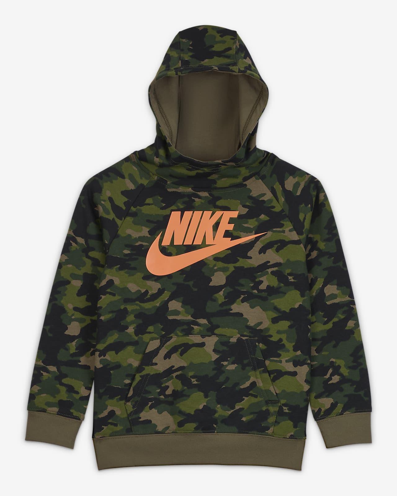 Nike Little Kids' Camo Pullover Hoodie