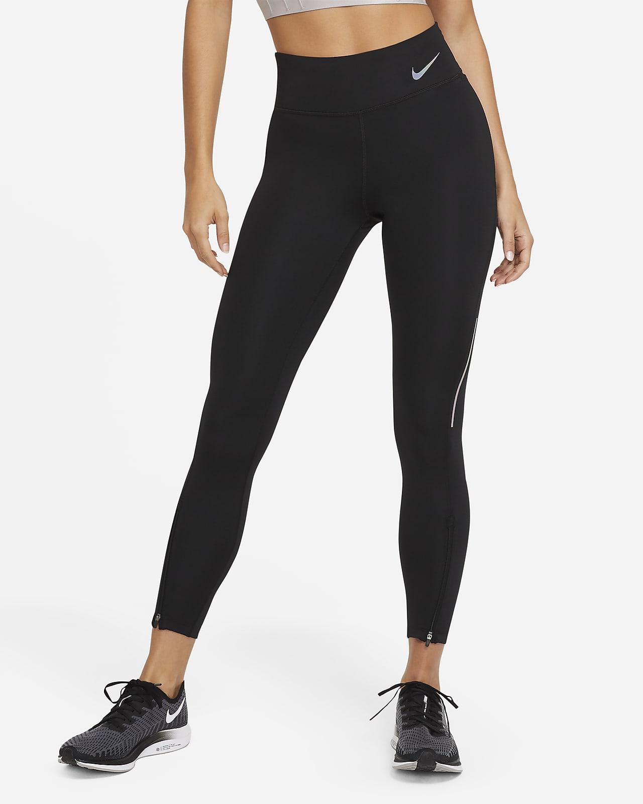Nike Epic Faster 7/8-Lauf-Leggings mit halbhohem Bund für Damen