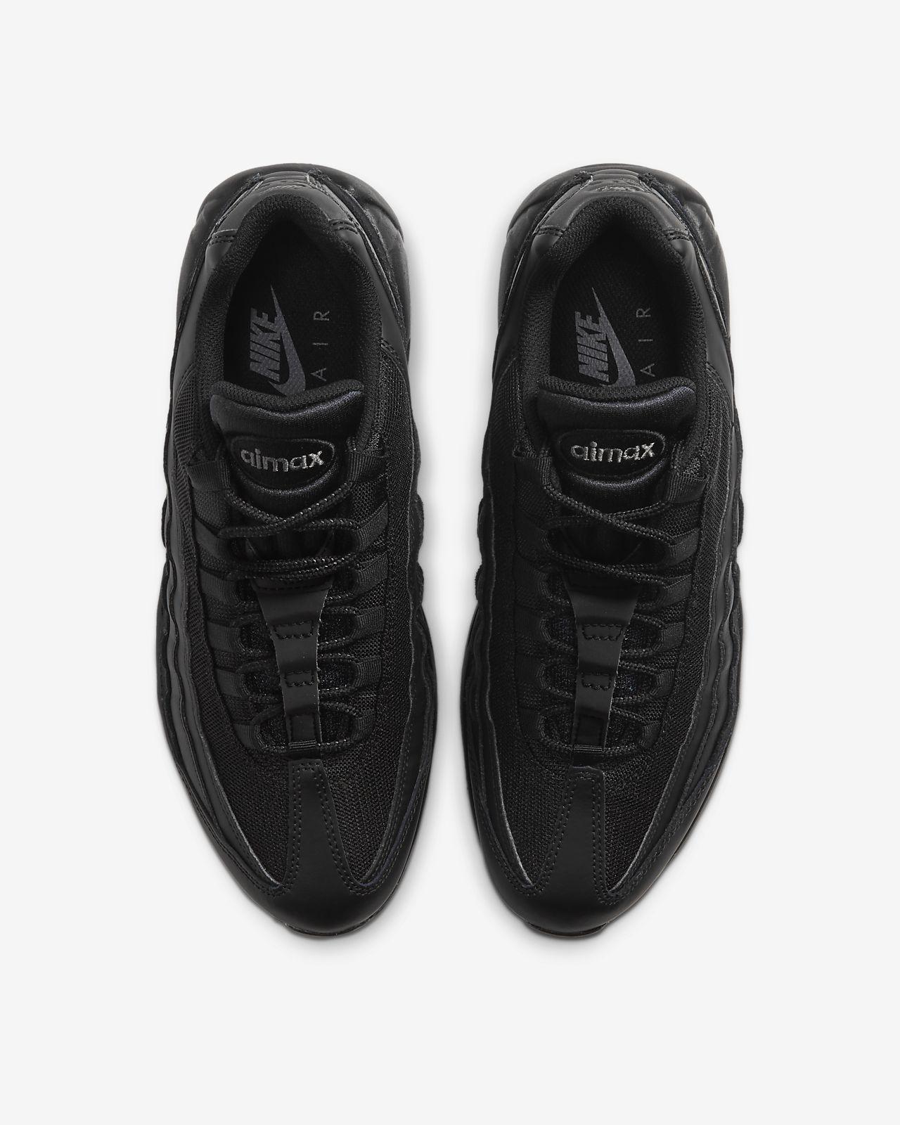 Air Max 95 All Black On Feet
