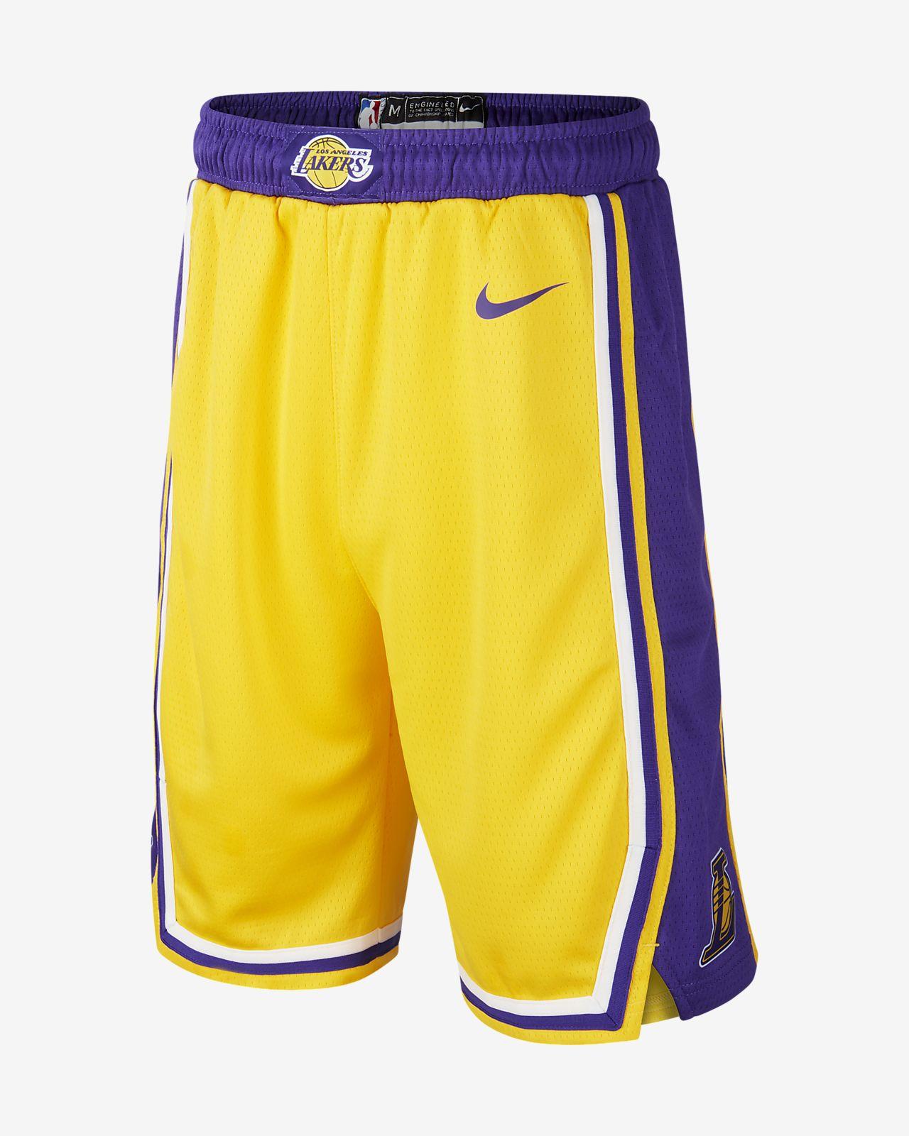 Calções NBA Nike Los Angeles Lakers Icon Edition Swingman Júnior