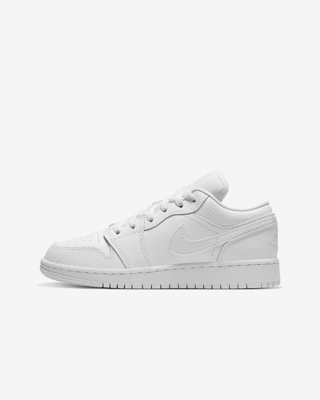 Nike Air Jordan Białe buty sportowe o niskim profilu