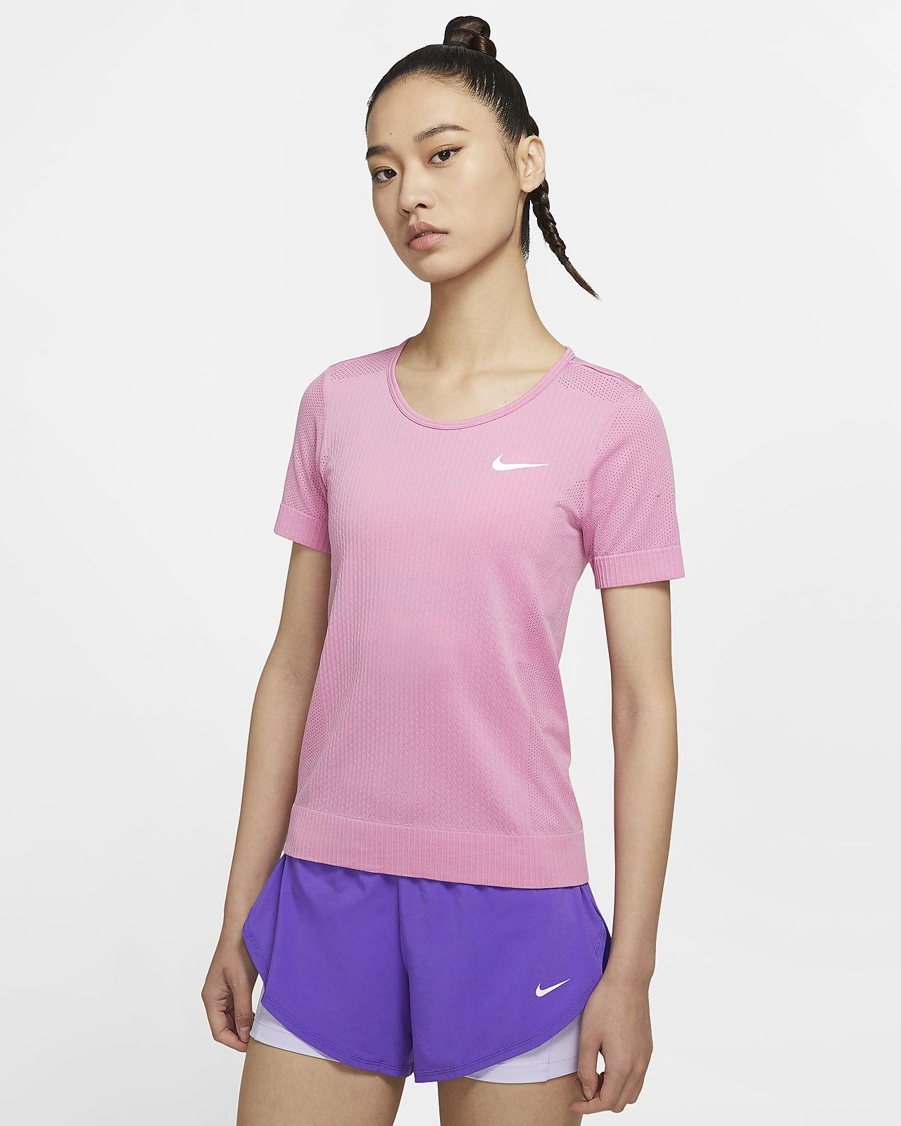 เสื้อวิ่งแขนสั้นผู้หญิง Nike Infinite