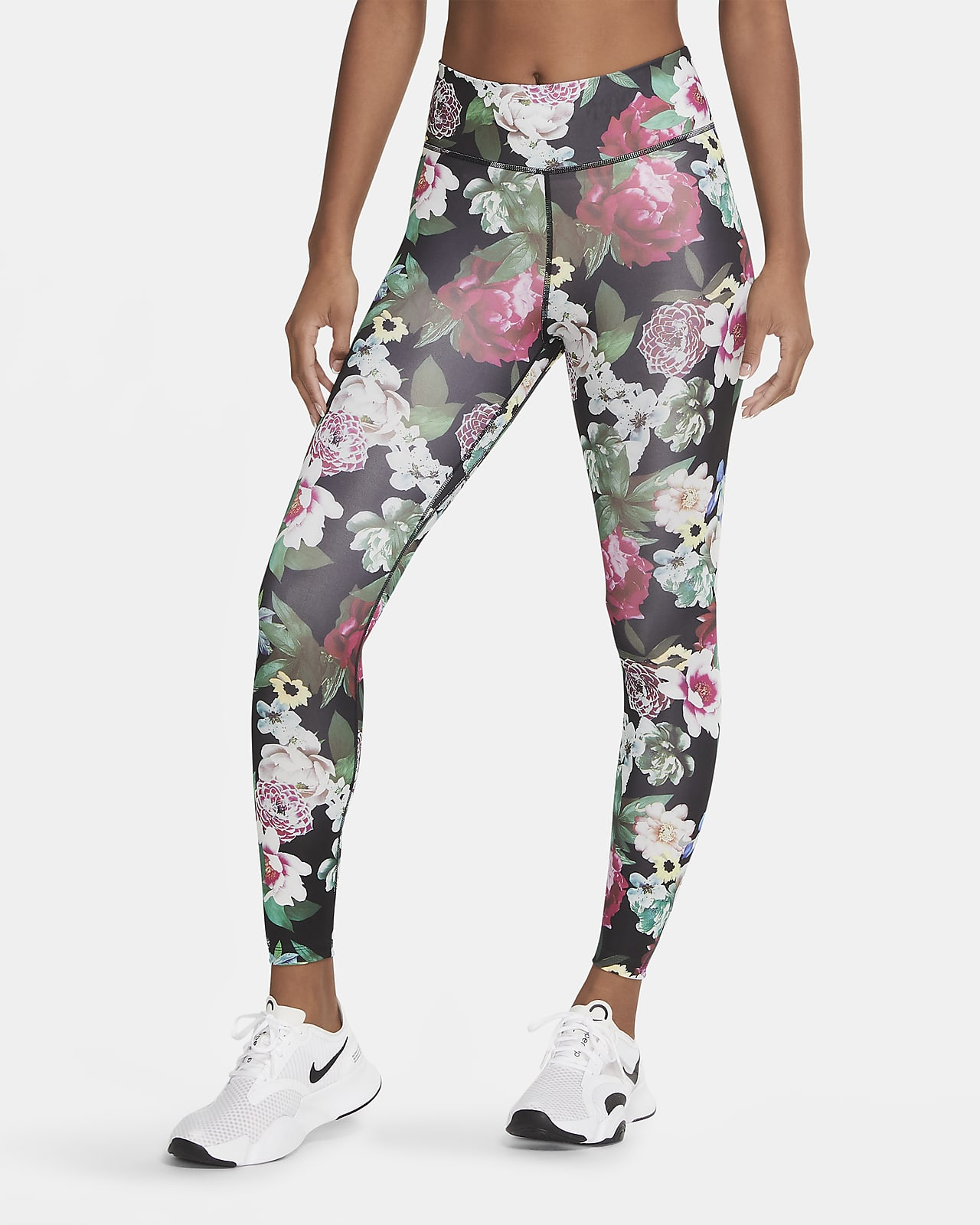 Nike One 7/8-tights met bloemenprint voor dames