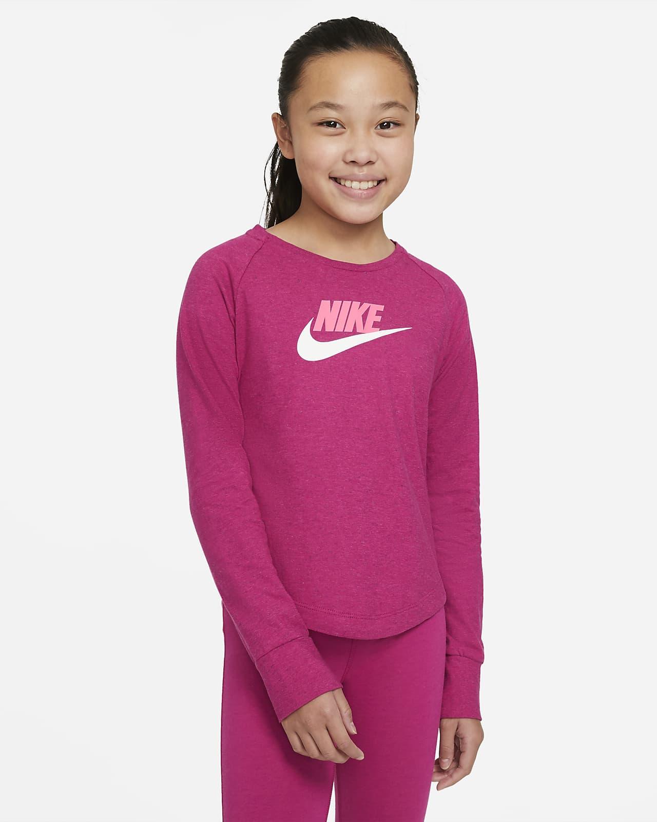 Nike Sportswear Older Kids' (Girls') Jersey Crew
