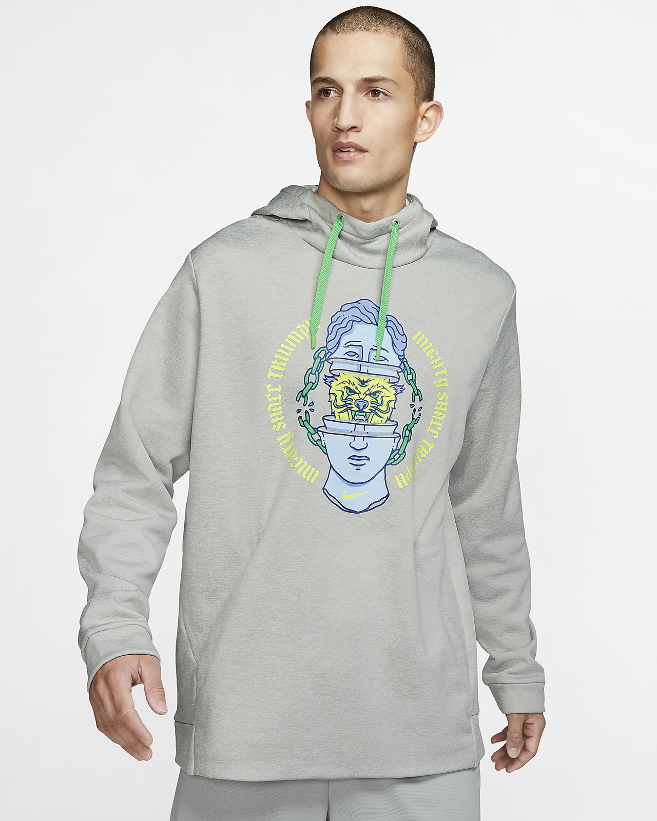 Träningshuvtröja Nike Therma Pullover för män