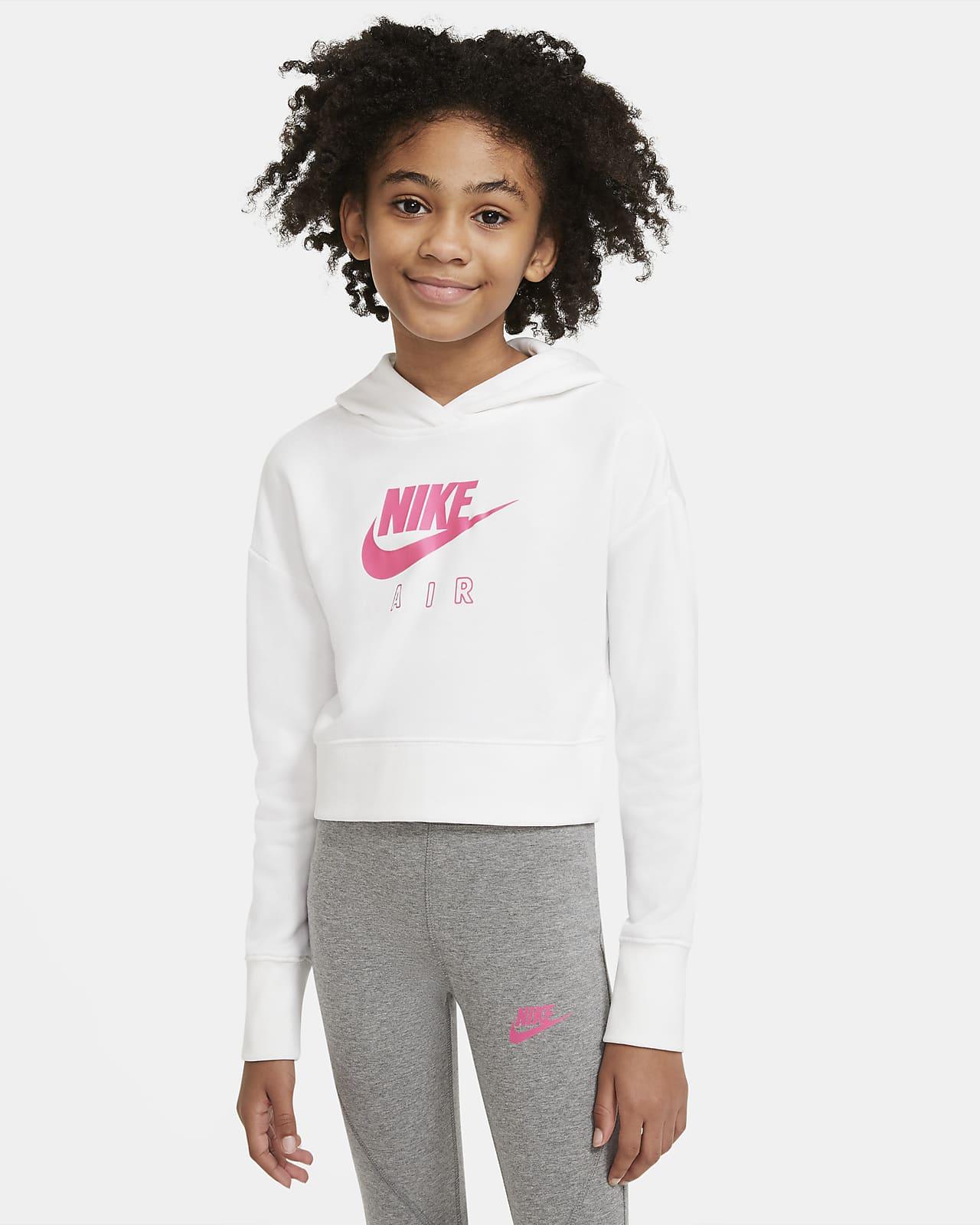 Kort huvtröja Nike Air i frotté för ungdom (tjejer)
